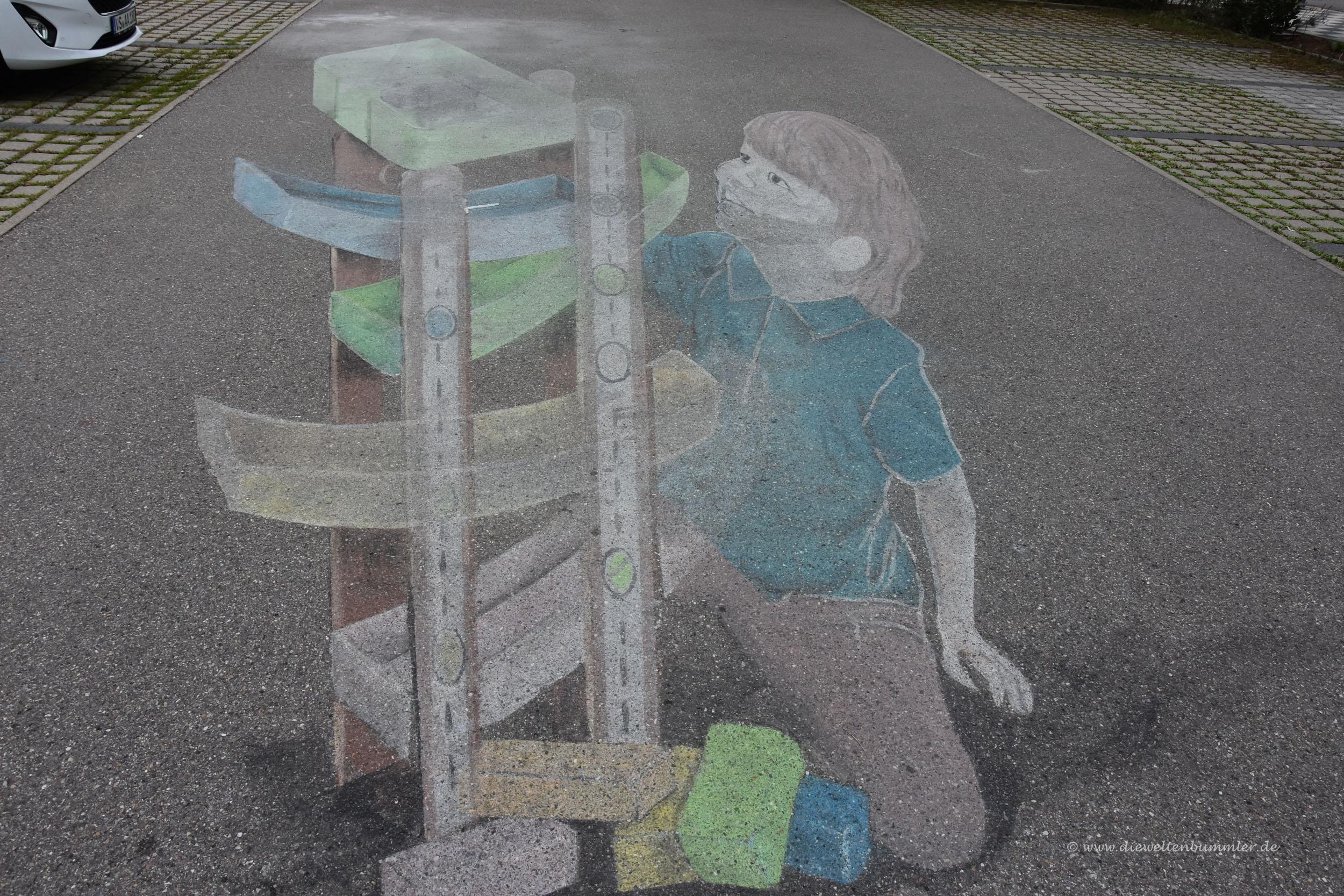 Diorama auf der Straße