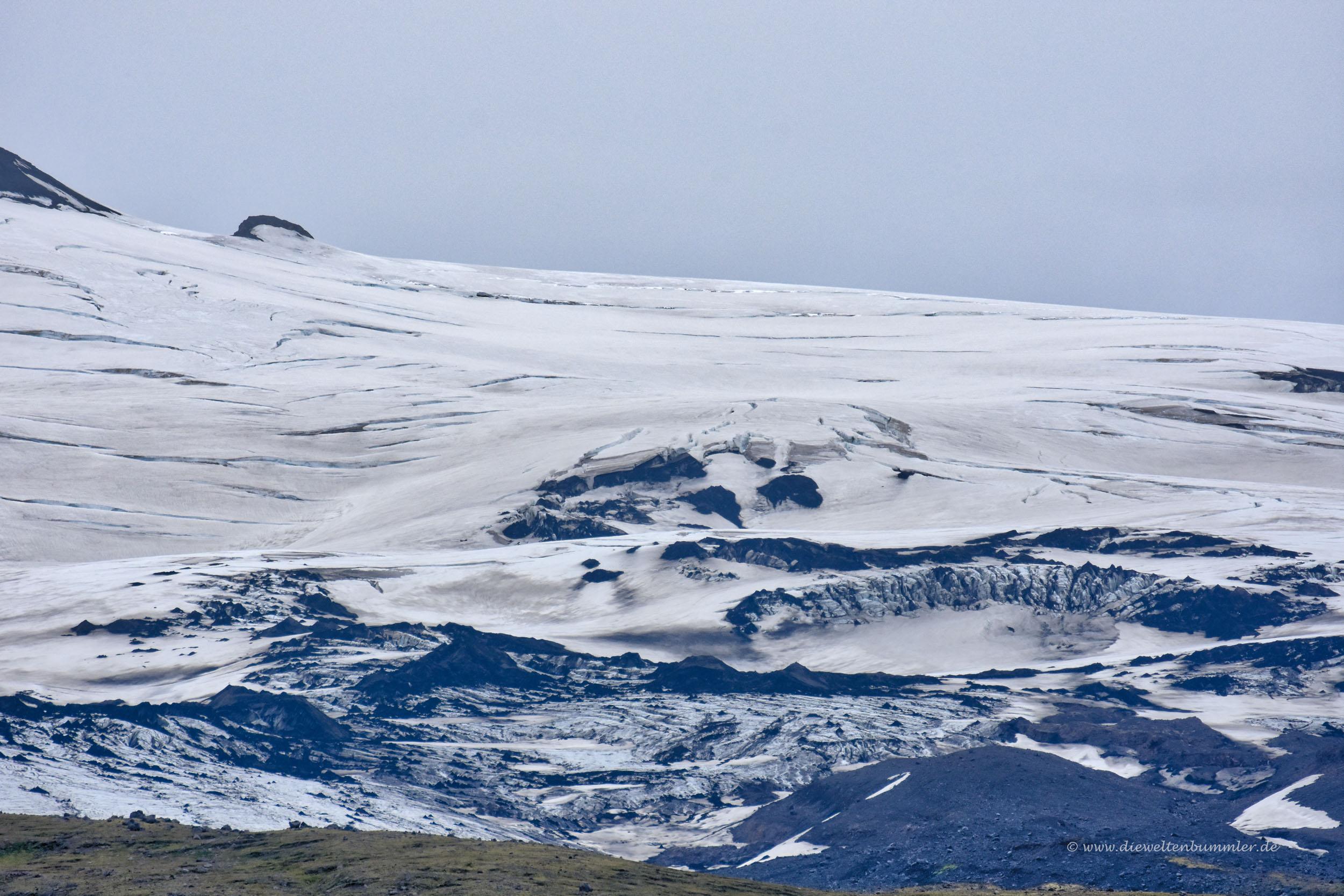 Eis und Gletscher auf dem Eyjafalljökull