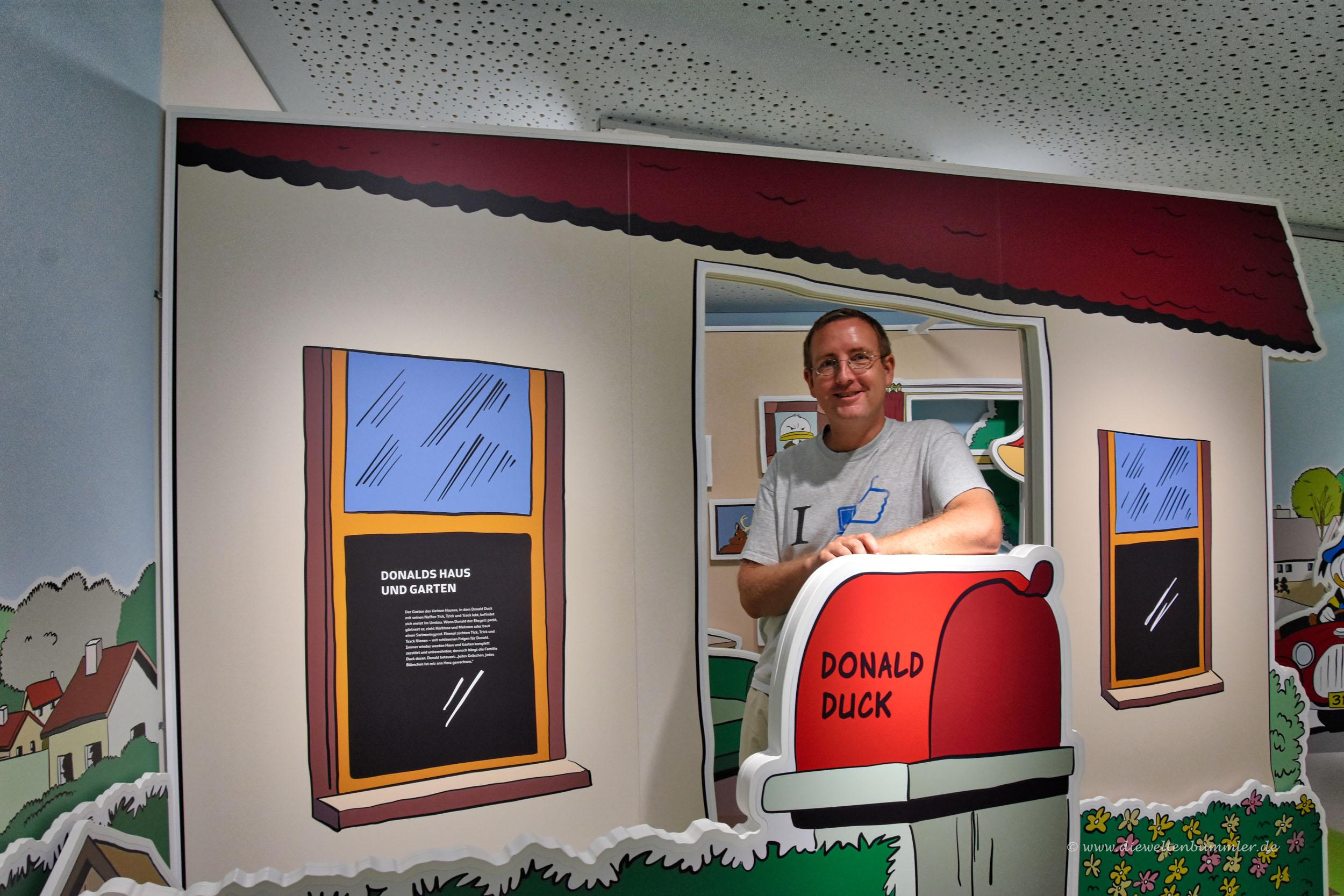 Michael Moll im Haus von Donald Duck
