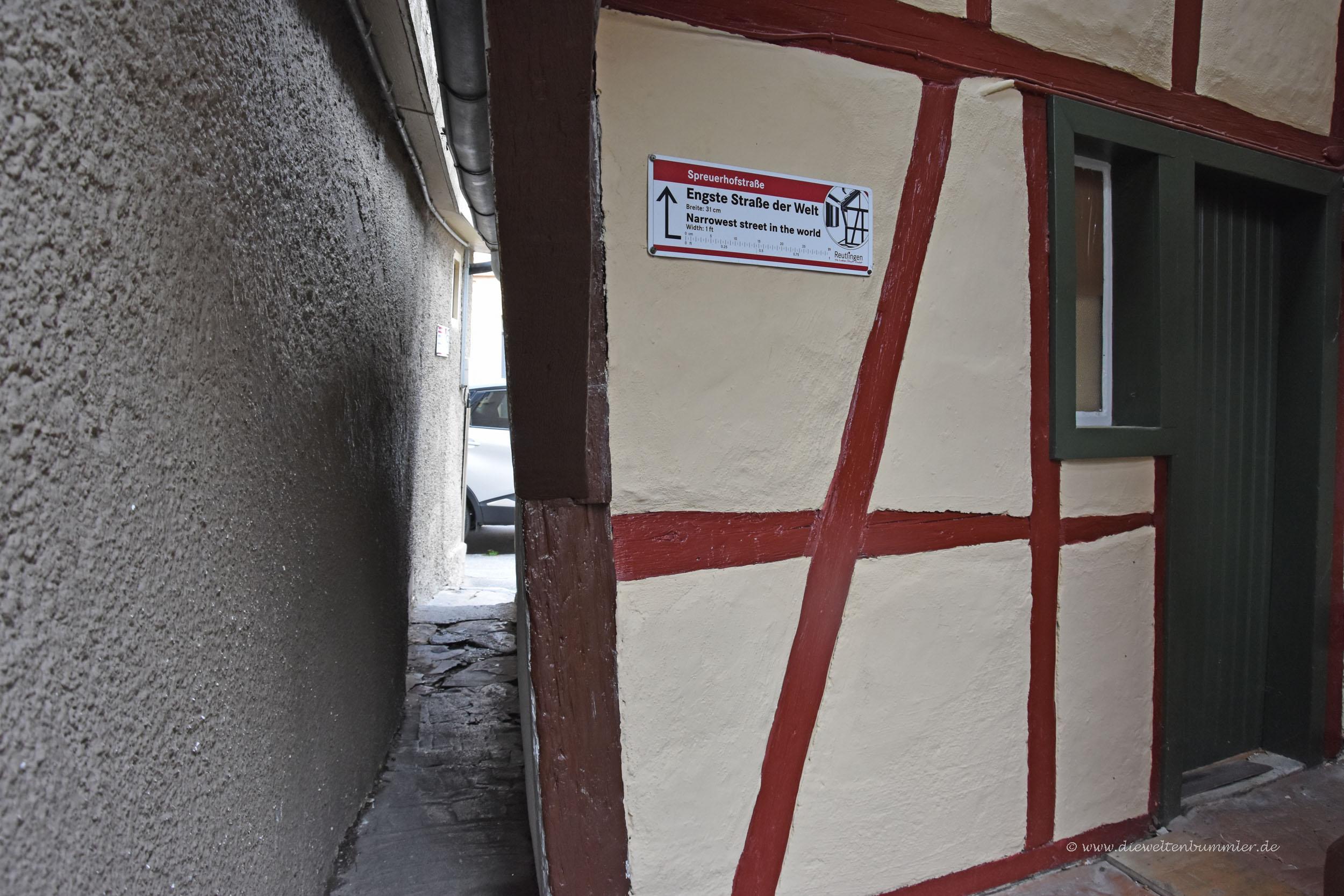 Spreuerhofstraße in Reutlingen