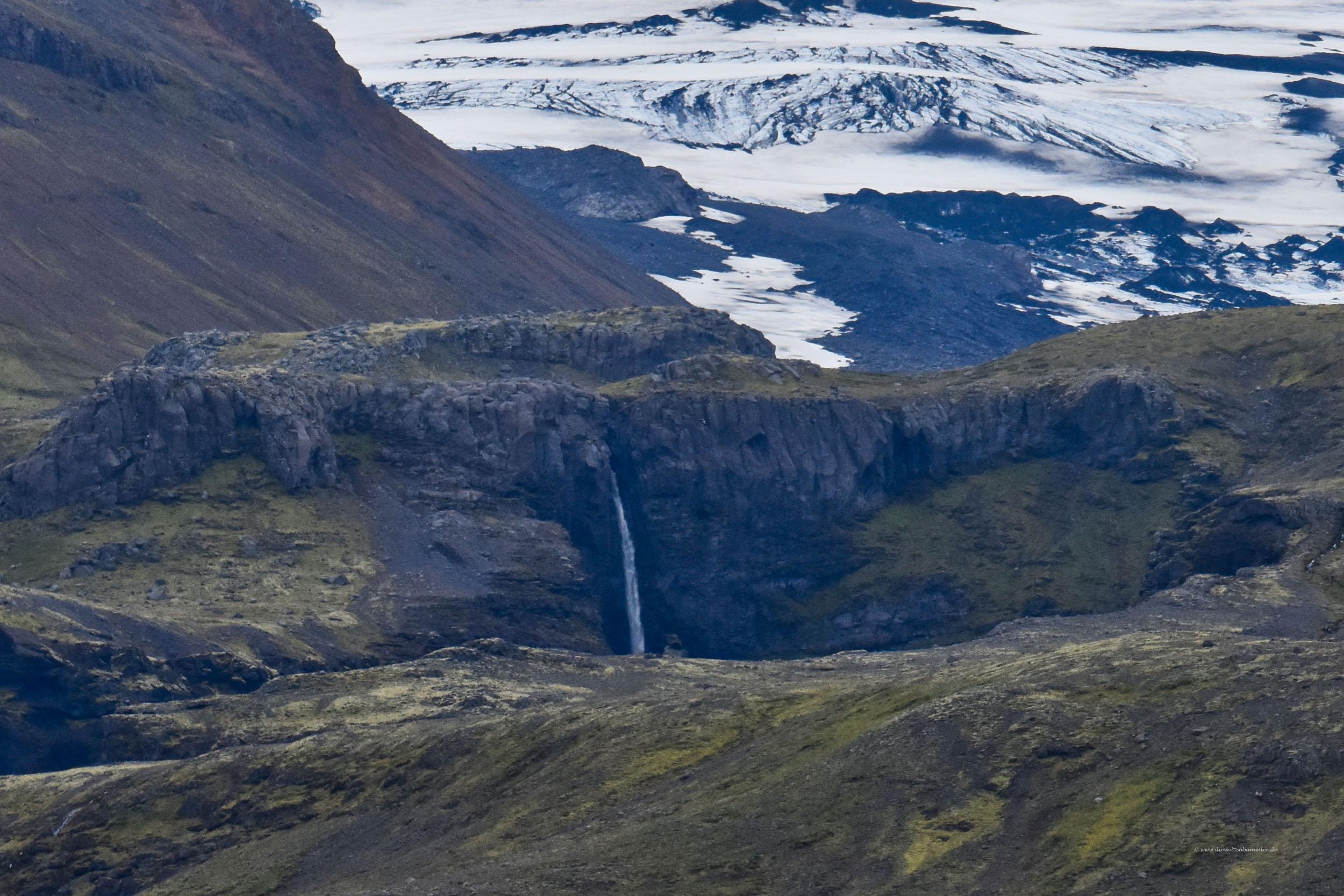 Wasserfall am Südrand des Vulkans