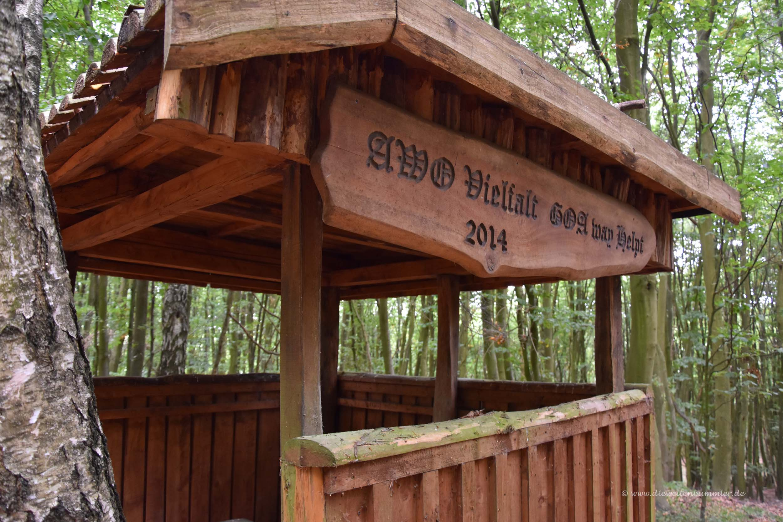 Schutzhütte am Helpter Berg