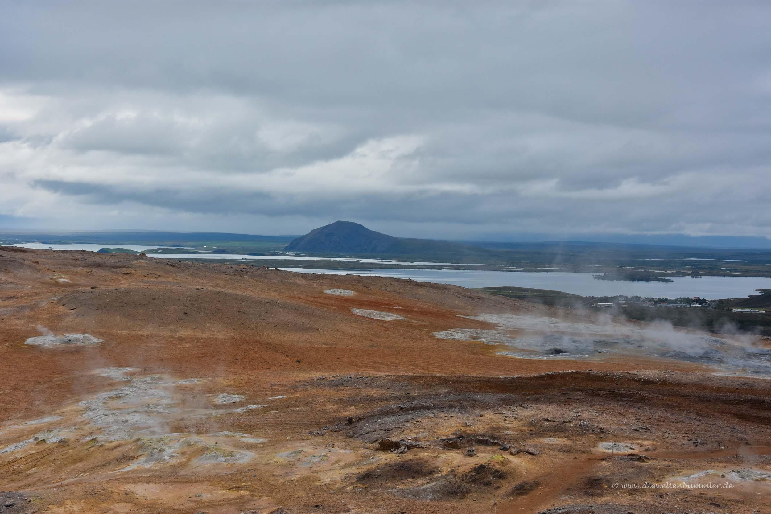 Ausblick zum Mývatn-See