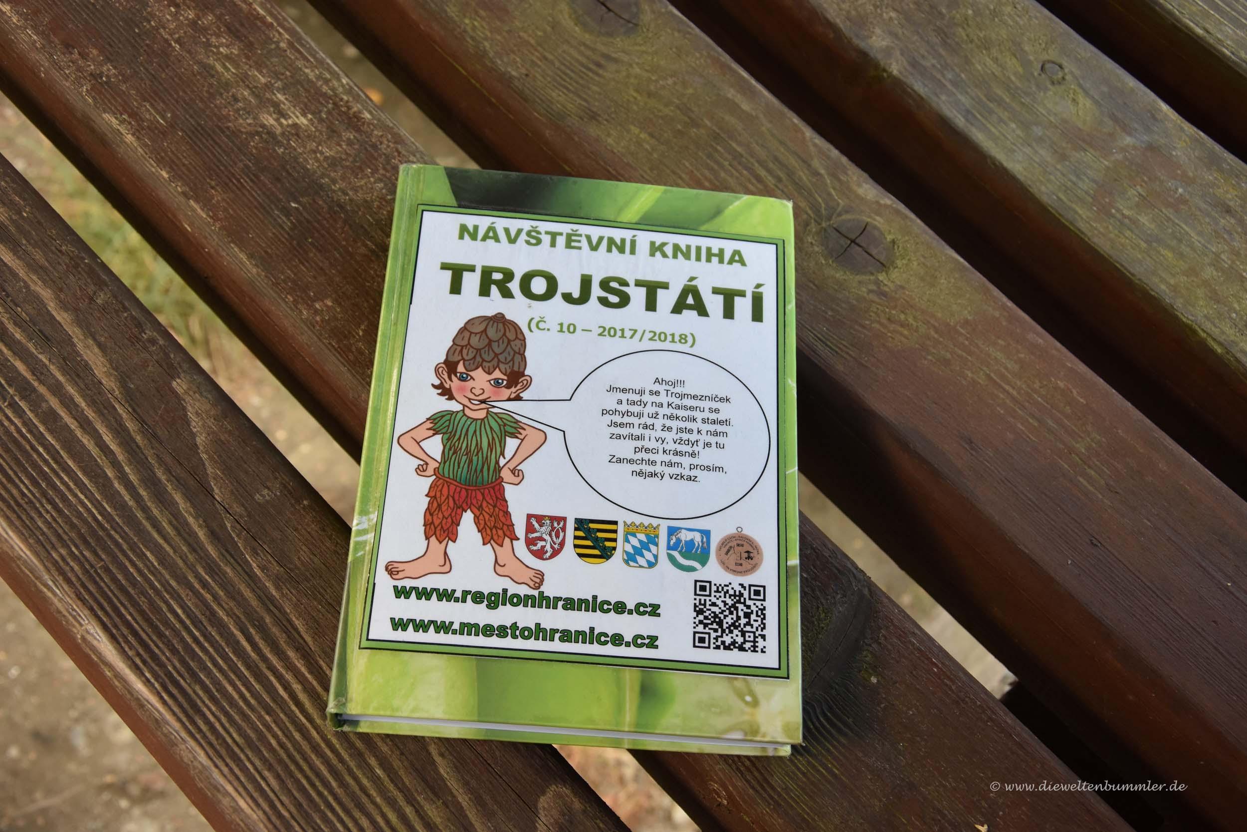 Gästebuch am Dreiländereck