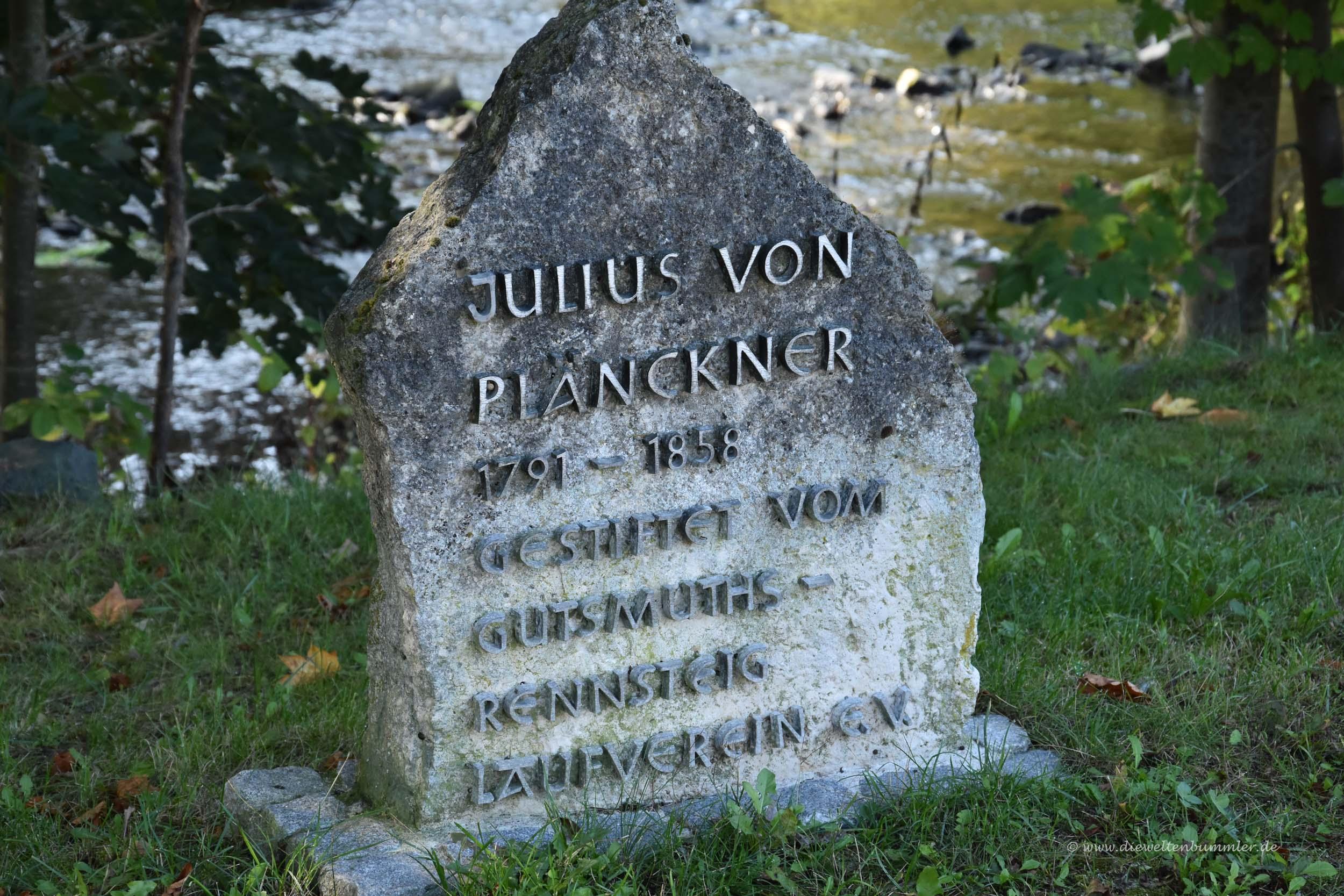Gedenkstein für Plänckner