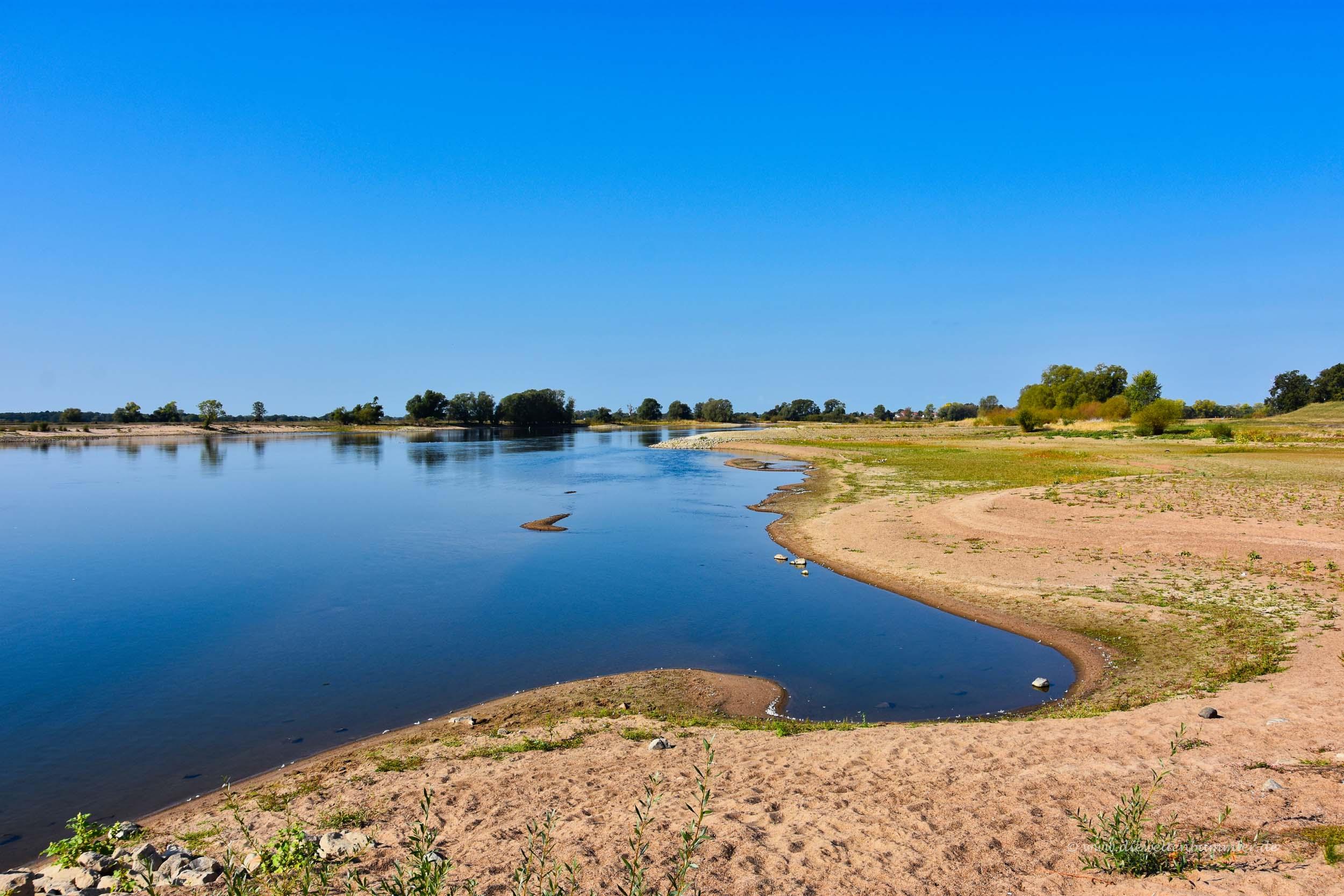 Ufer auf der Seite von Brandenburg