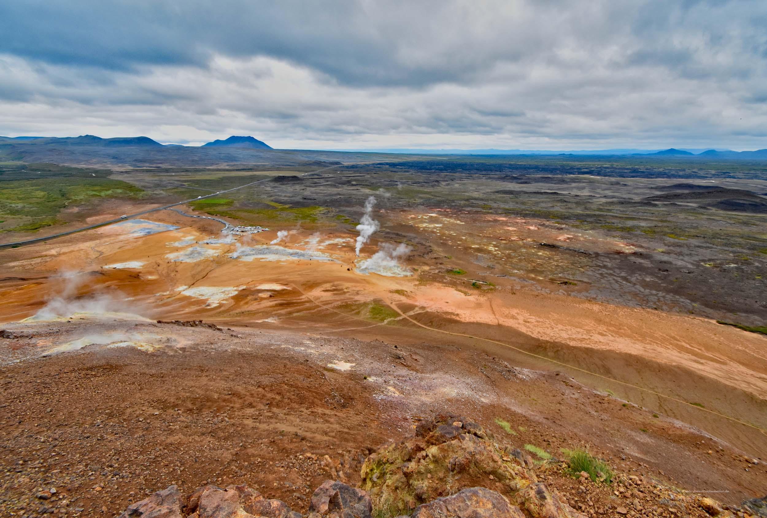Weite Landschaft in Island