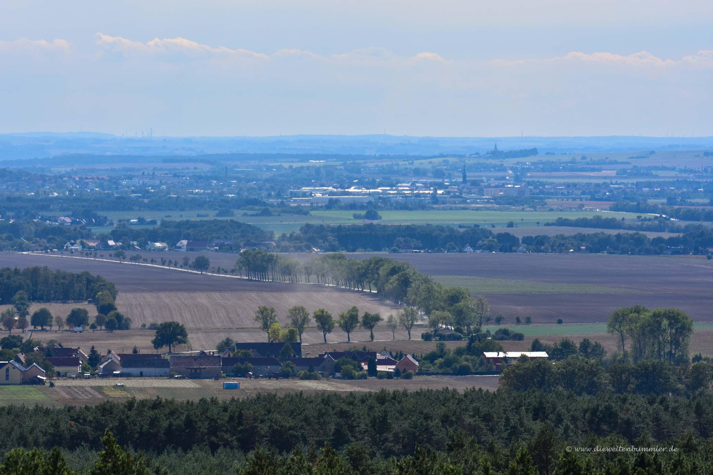 Blick in das sächsische Dorf Strauch