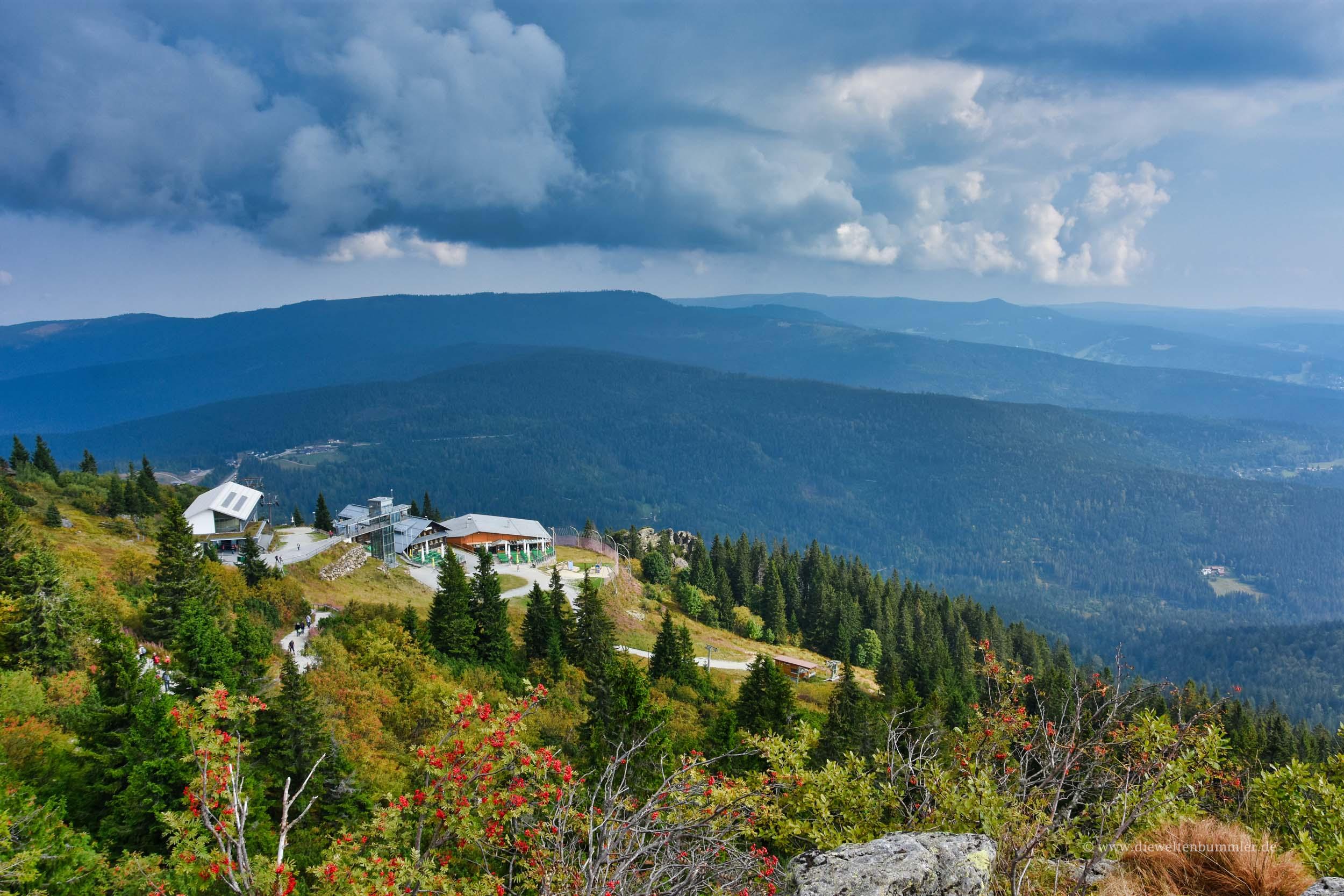 Blick zurück auf die Bergstation