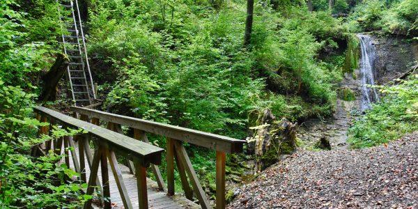 Brücke am Schleifenbachwasserfall