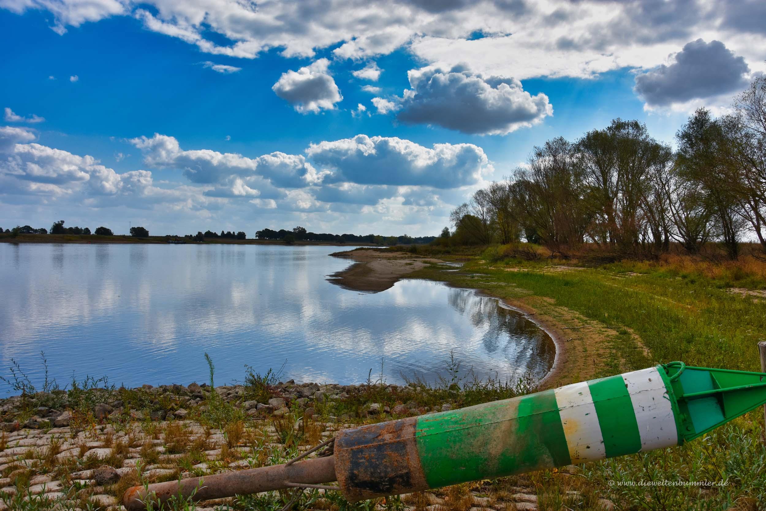 Dreiländereck in der Elbe