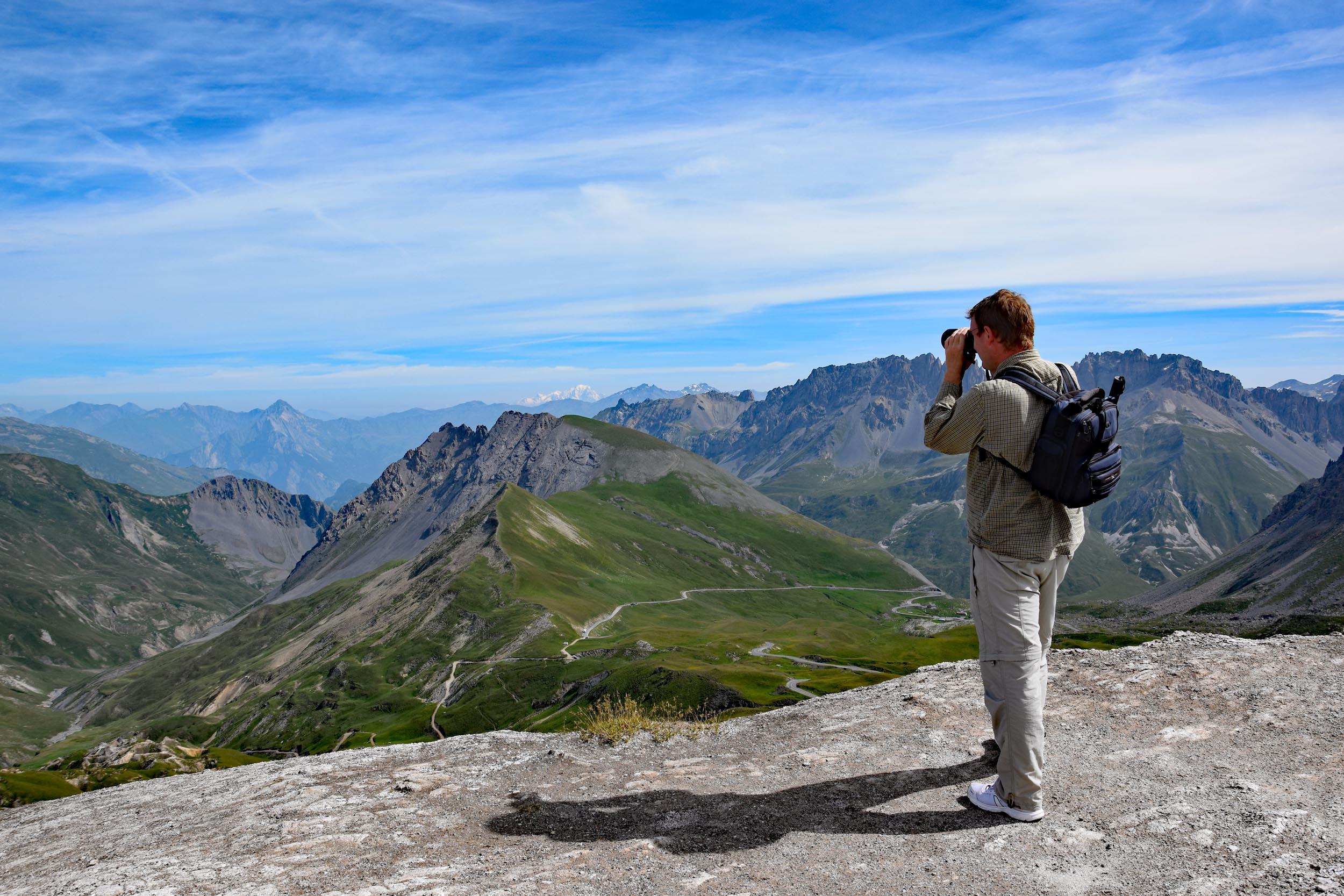 Hier stehe ich auf dem Col du Galibier