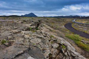 Verwerfungszone in Island