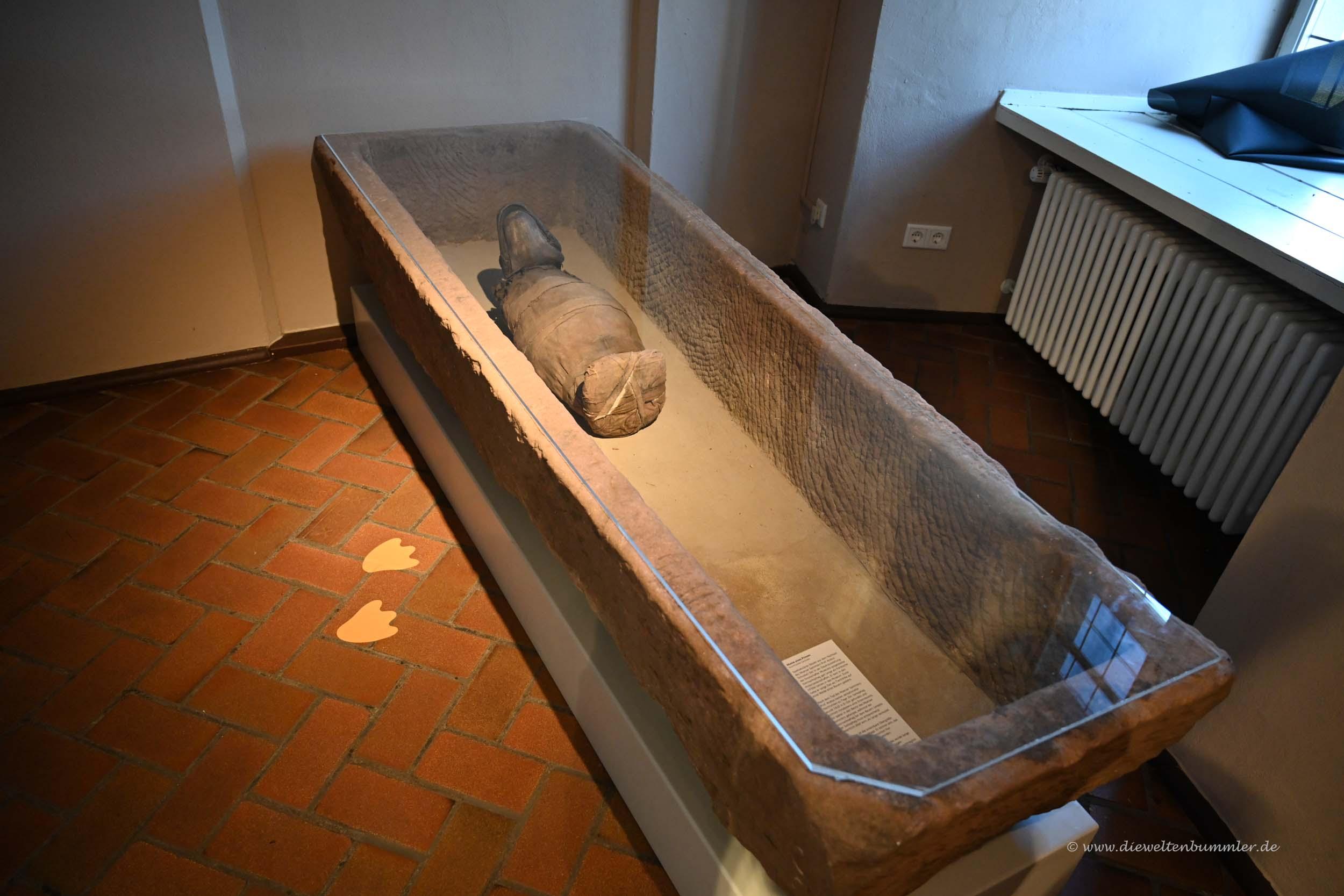 Ente als Mumie