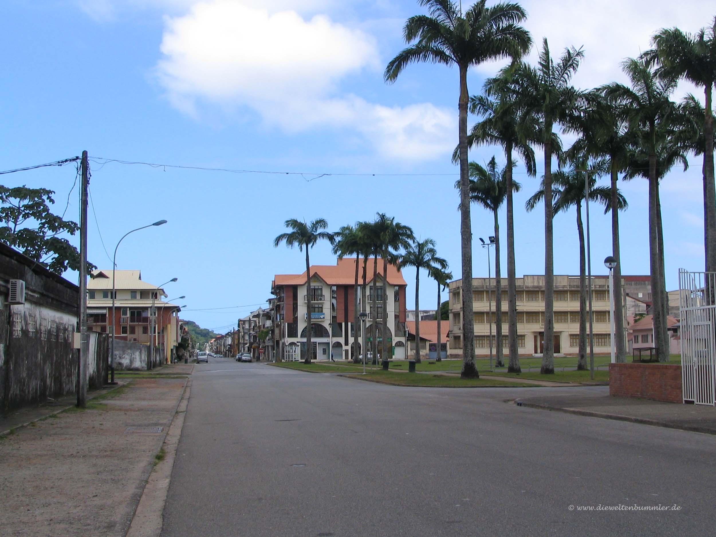 Place de Palmiste in Cayenne