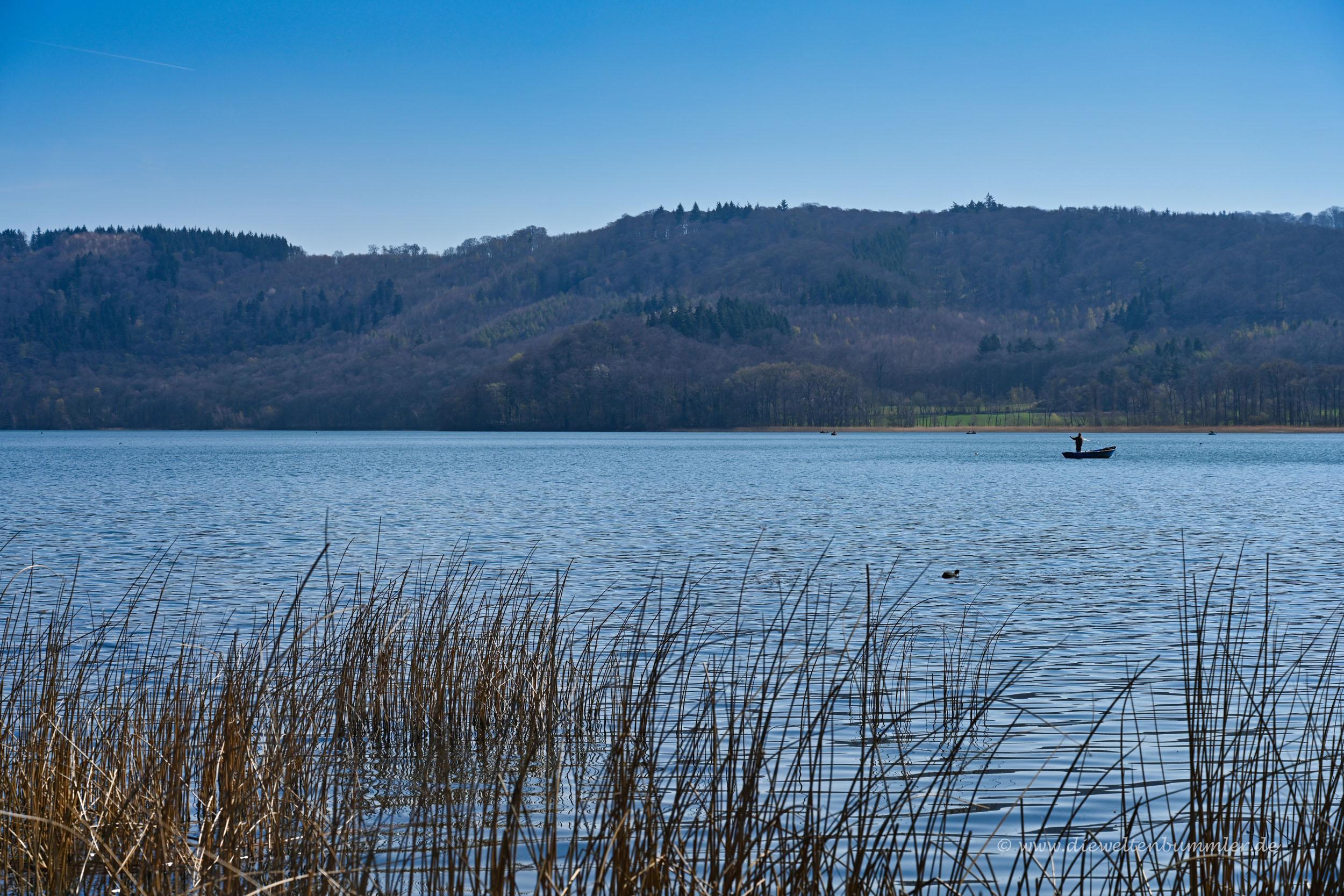 Angler auf dem Laacher See