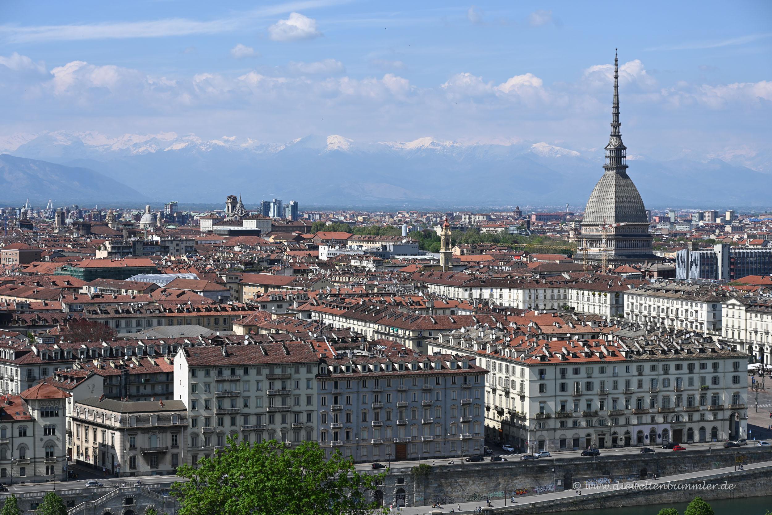 Ausblick über Turin