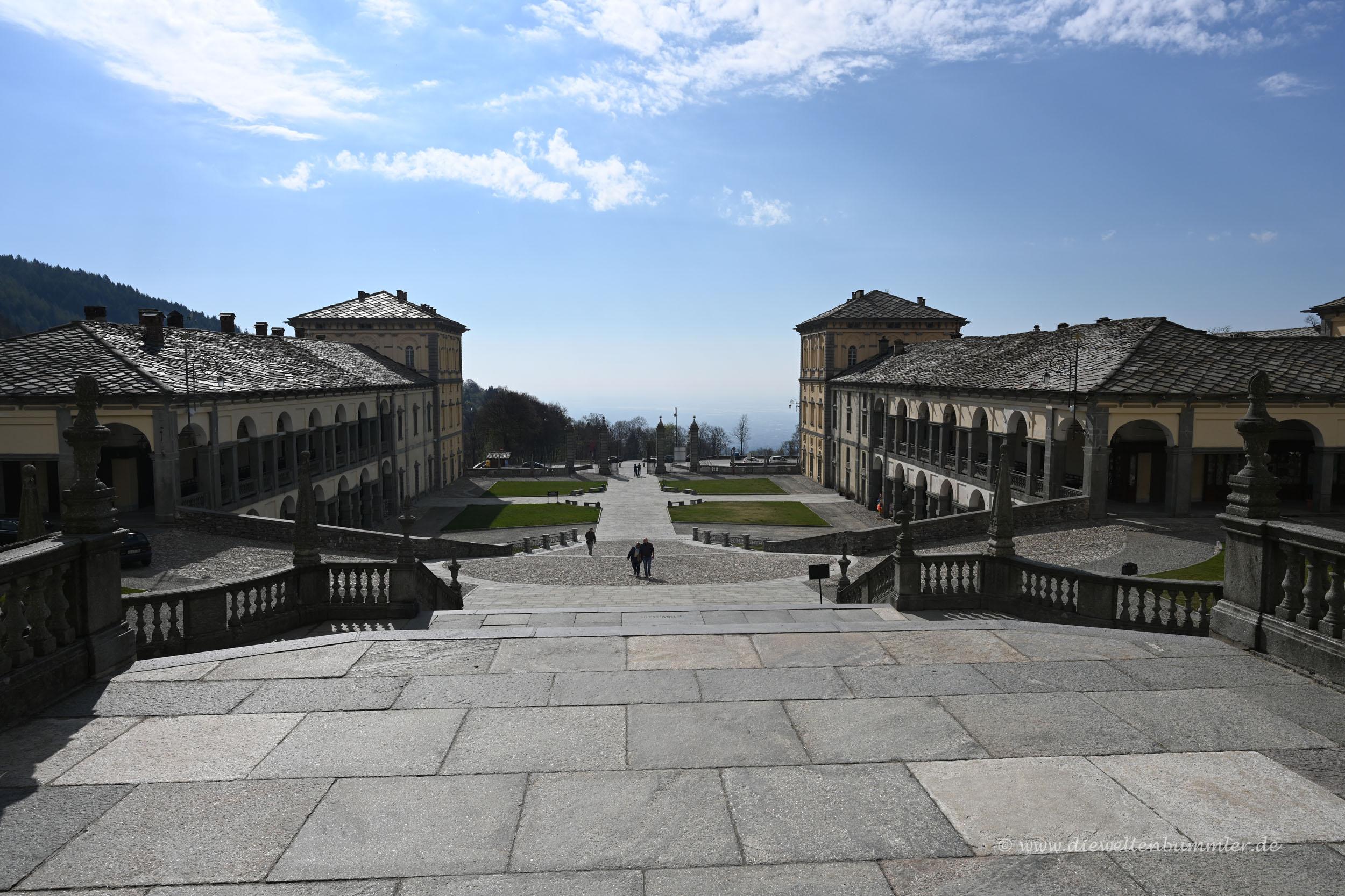 Ausblick am Sacro Monte di Oropa