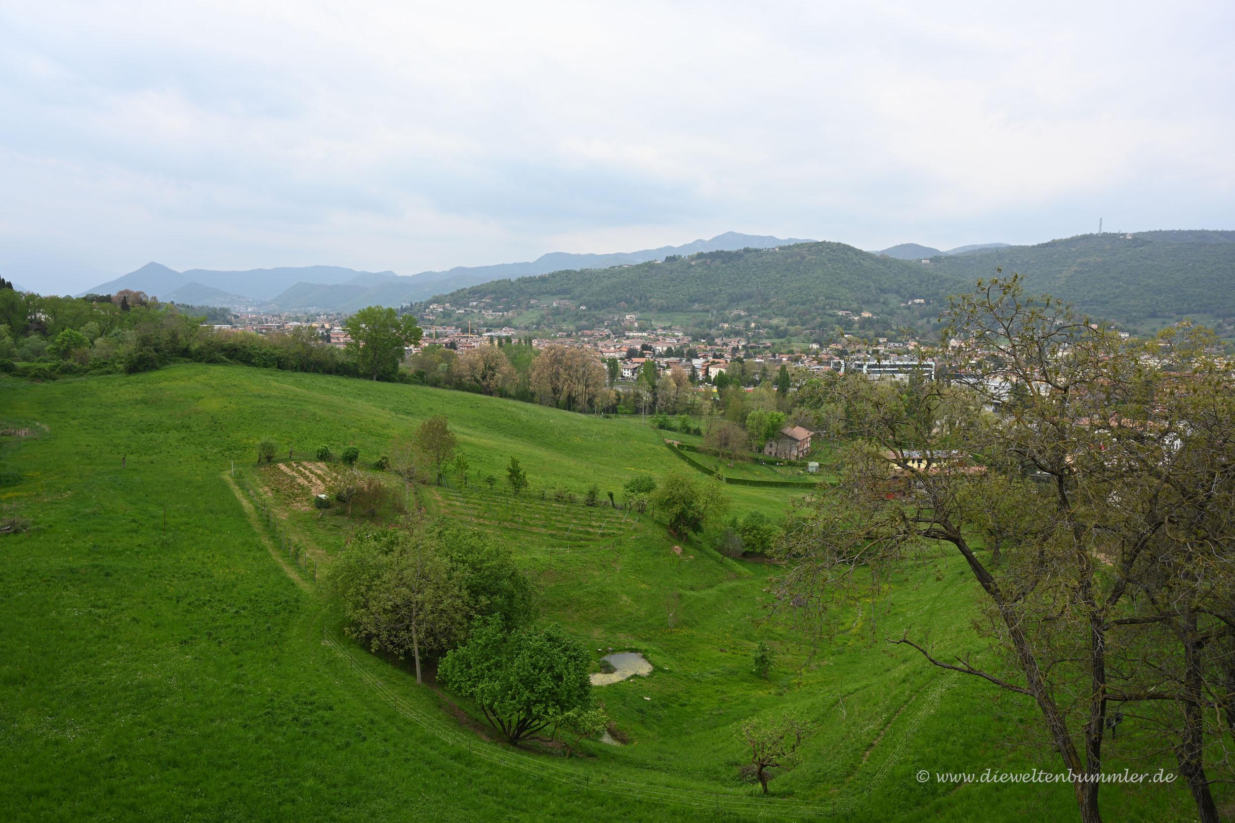 Ausblick von Bergamos Oberstadt