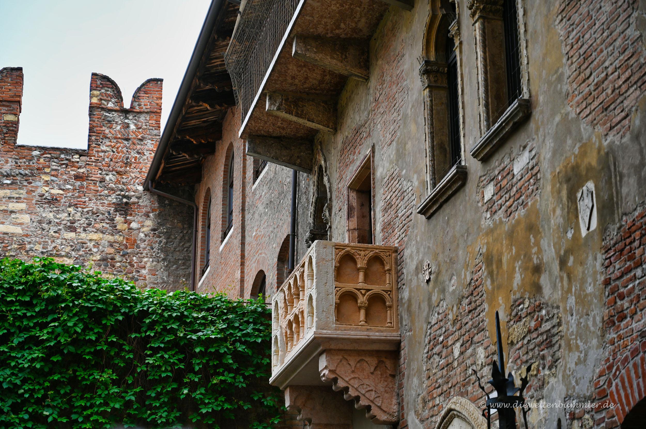 Der Balkon von Julia in Verona