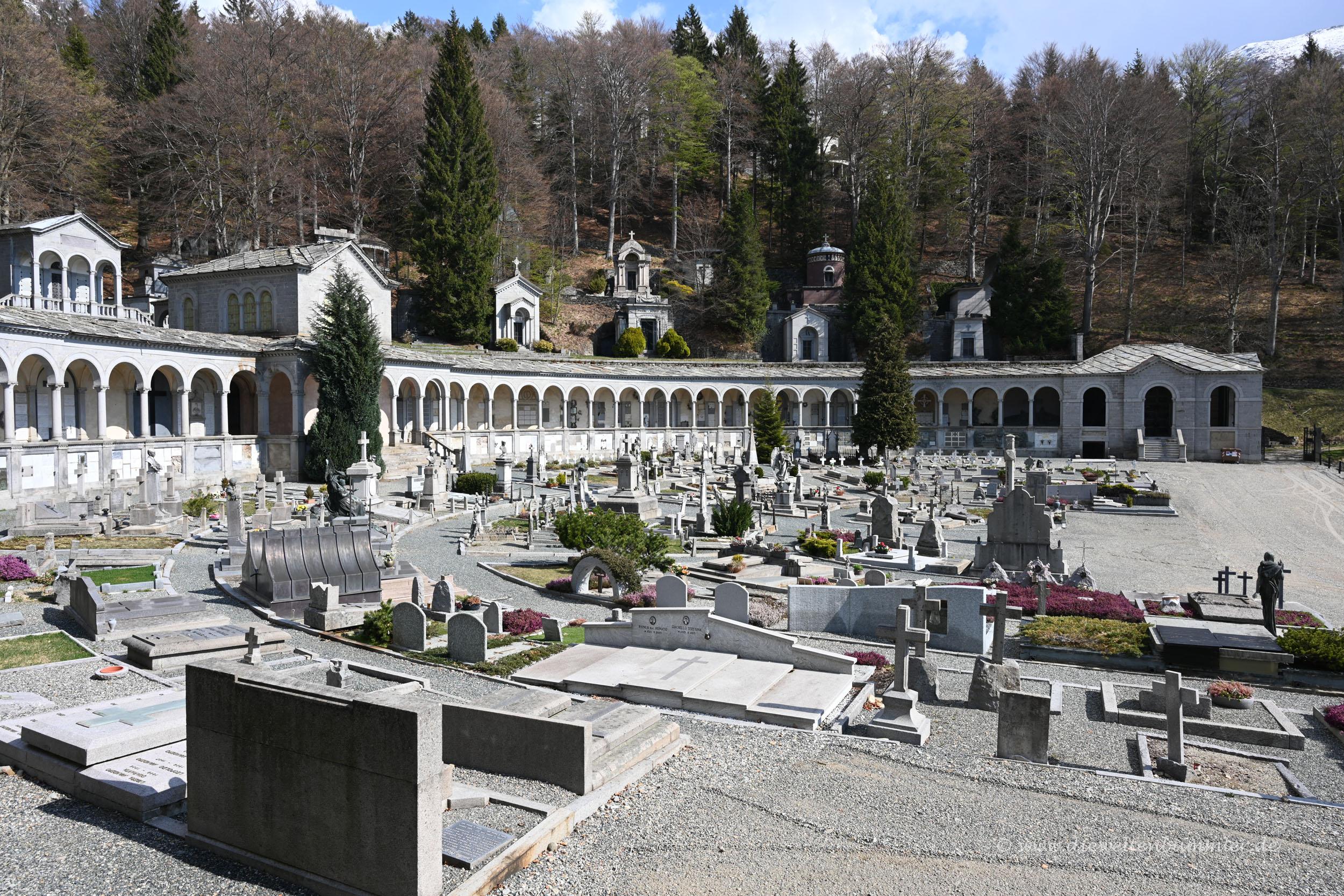 Friedhof in Oropa