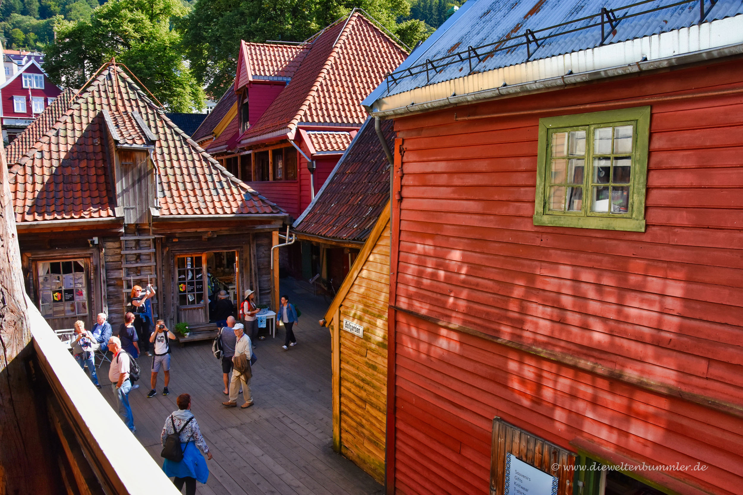 Gemütliches Bryggen in Bergen