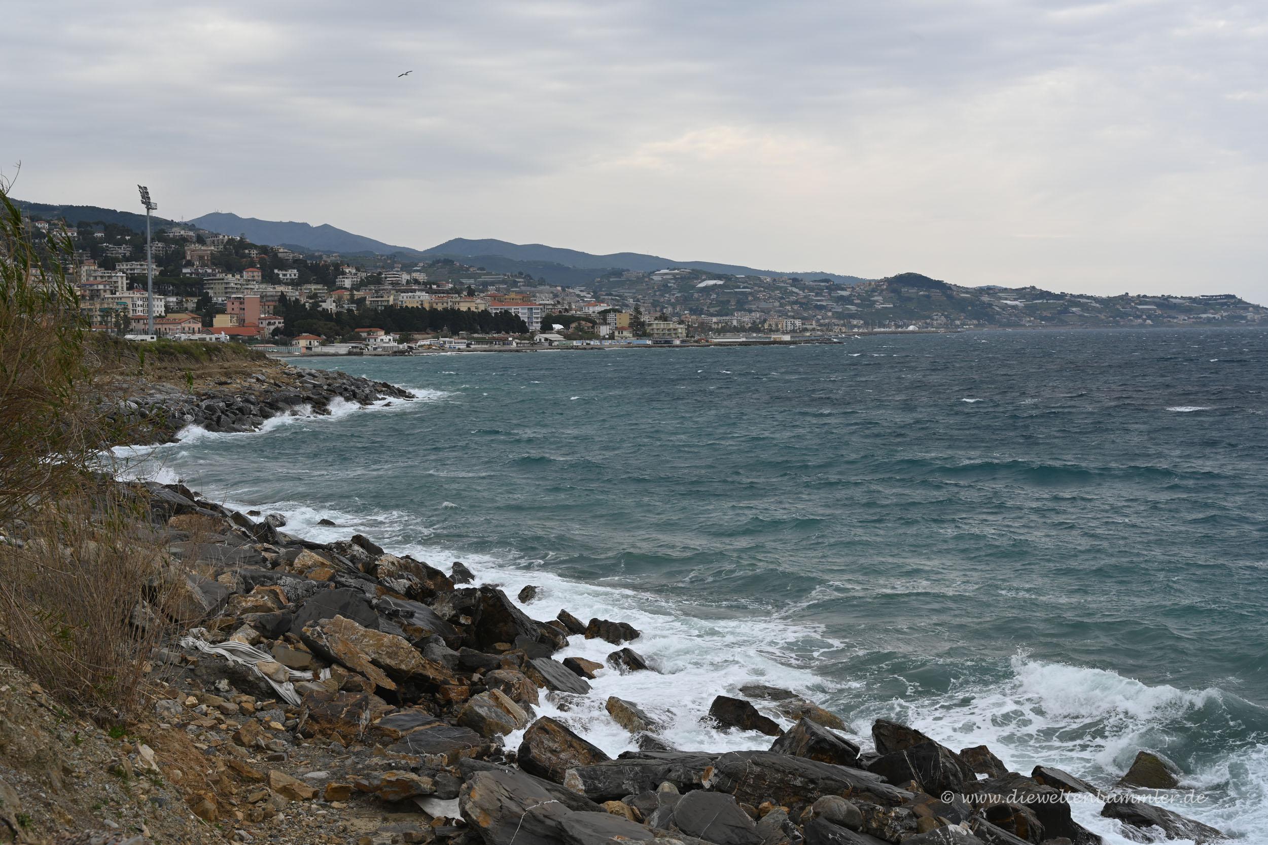 Küste bei Sanremo