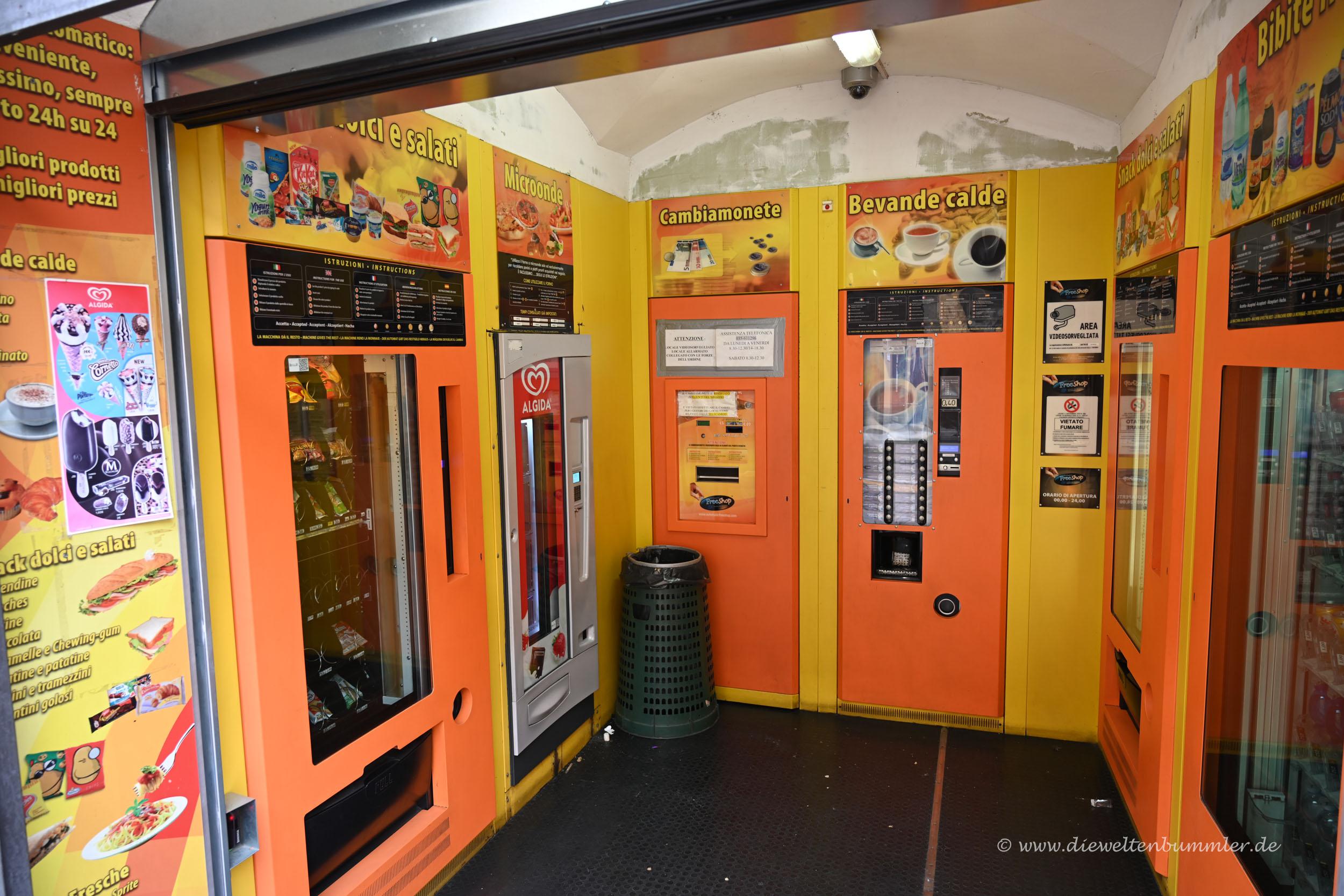 Kleines Ladenlokal nur mit Automaten