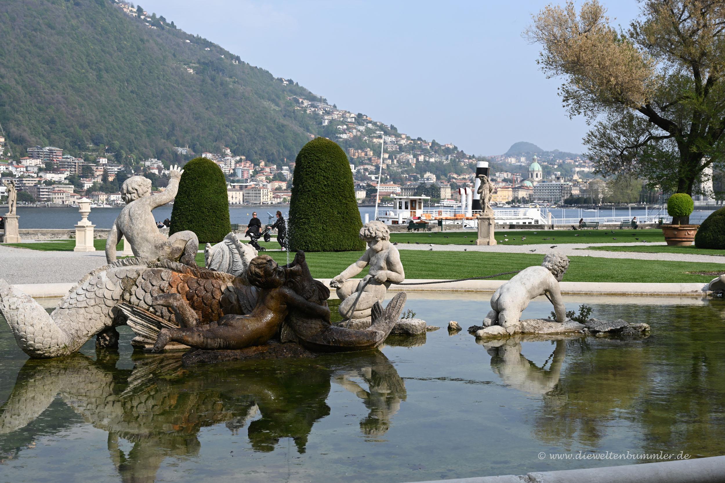 Parklandschaft bei Como