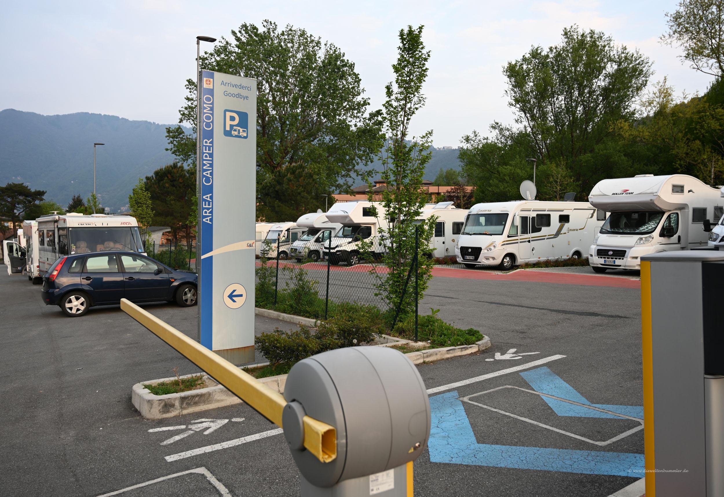 Stellplatz nördlich von Como