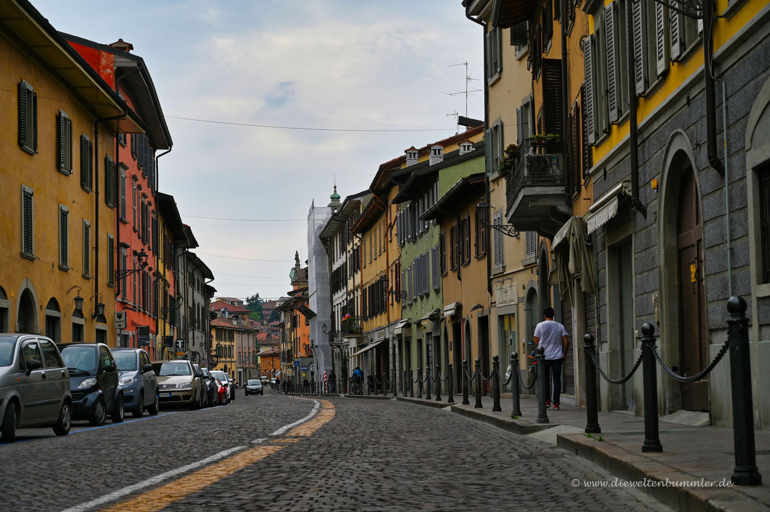 Unterstadt in Bergamo