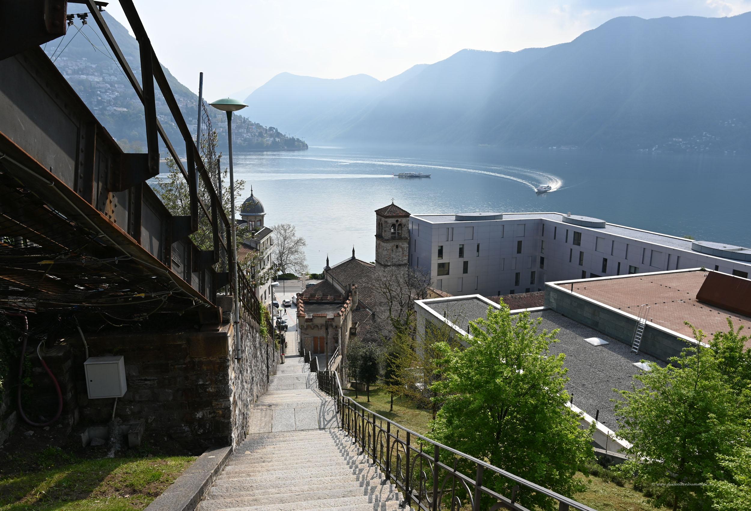 Viele Stufen in Lugano