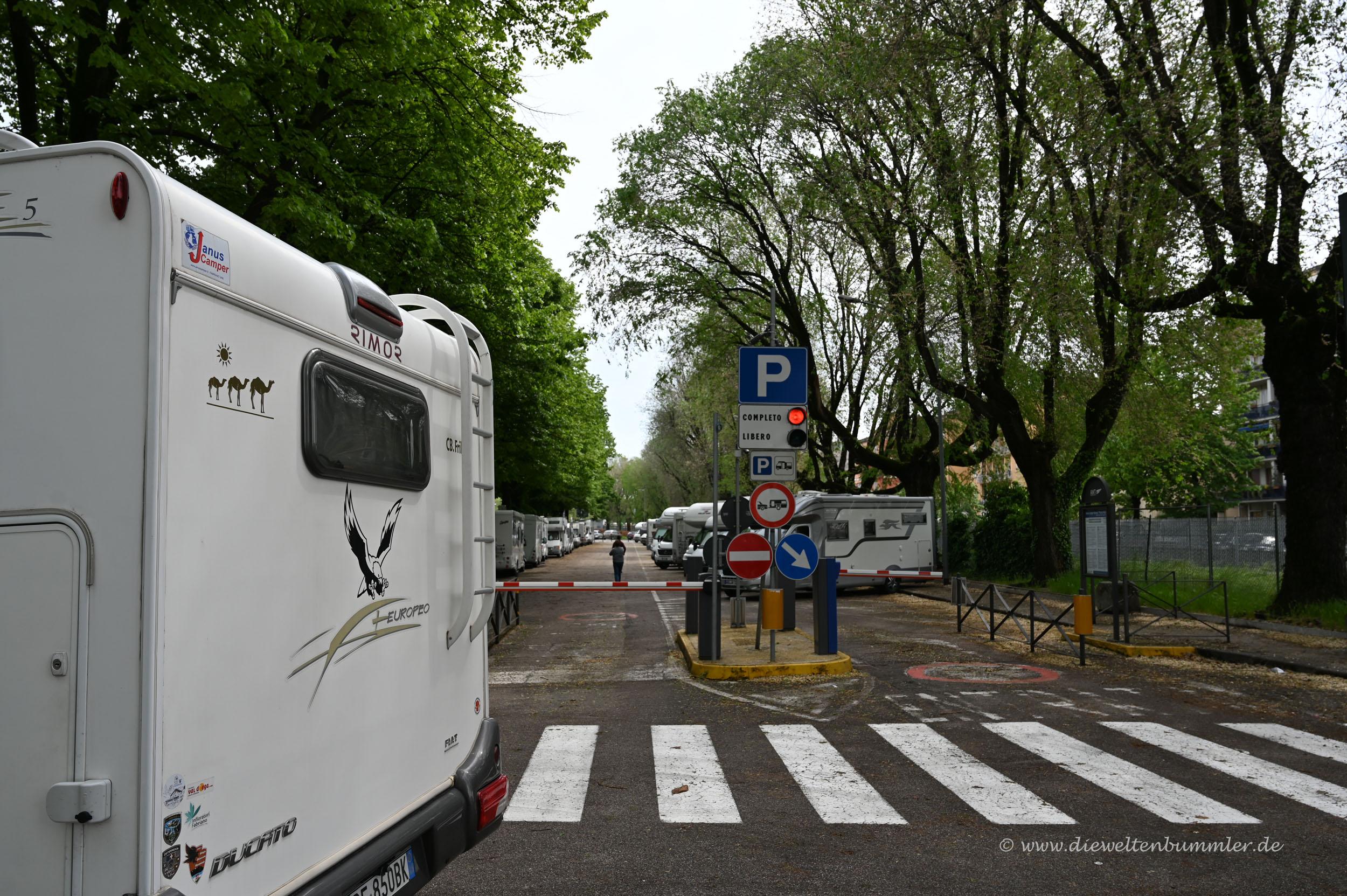 Wohnmobilstellplatz in Verona