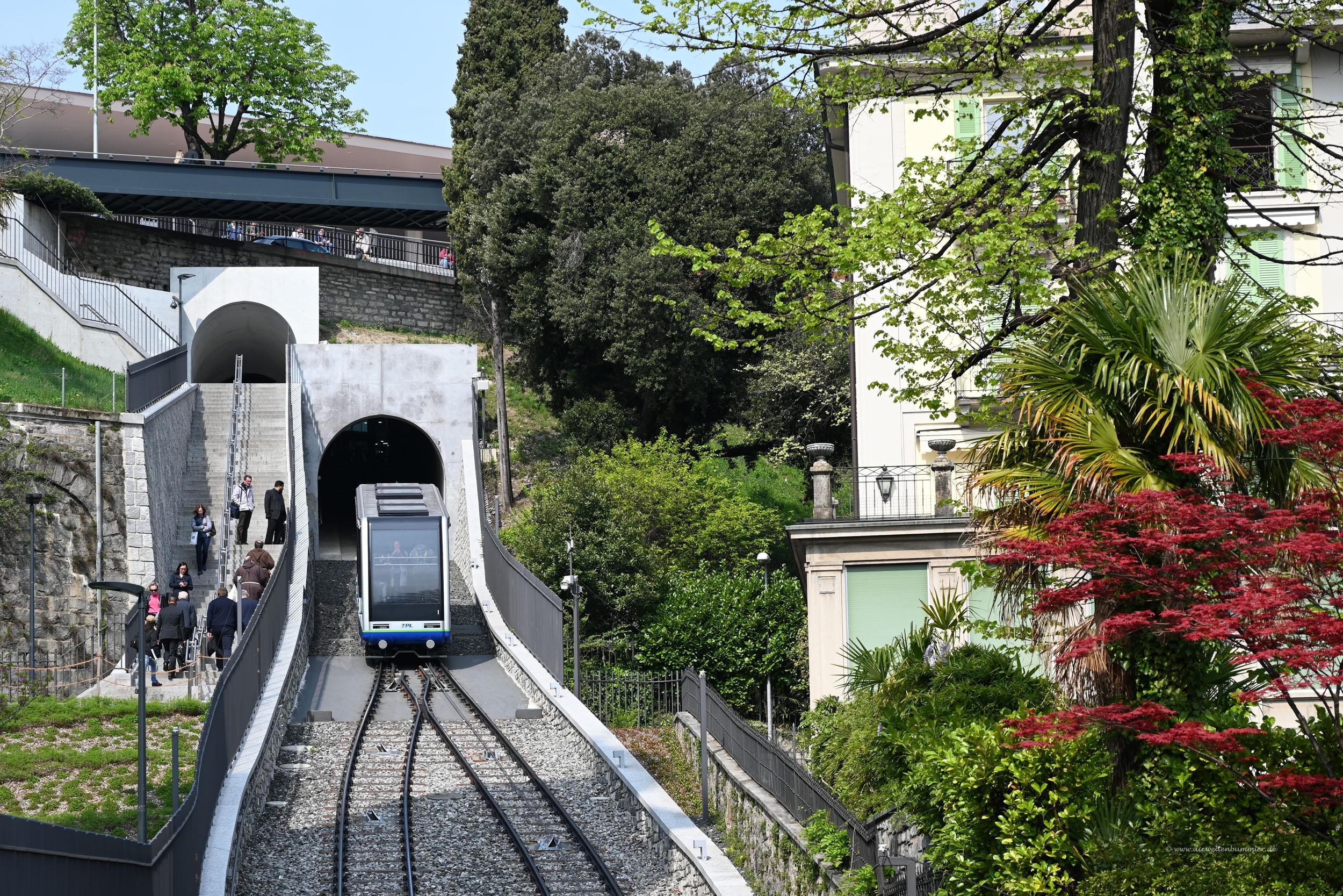 Zahnradbahn in Lugano