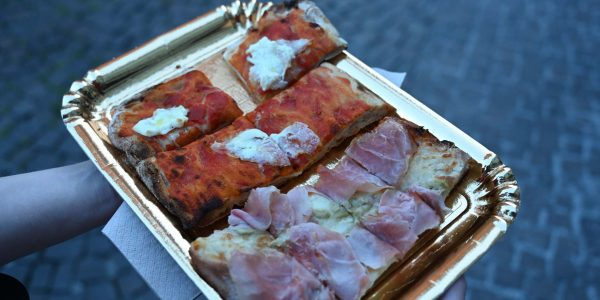 Abendliche Pizza