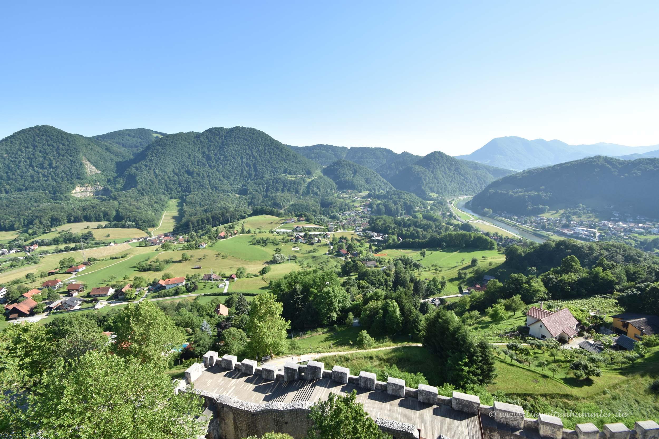Ausblick von der Burg Celje