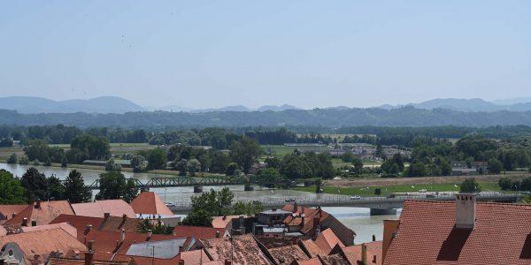 Ausblick von der Burg Ptuj