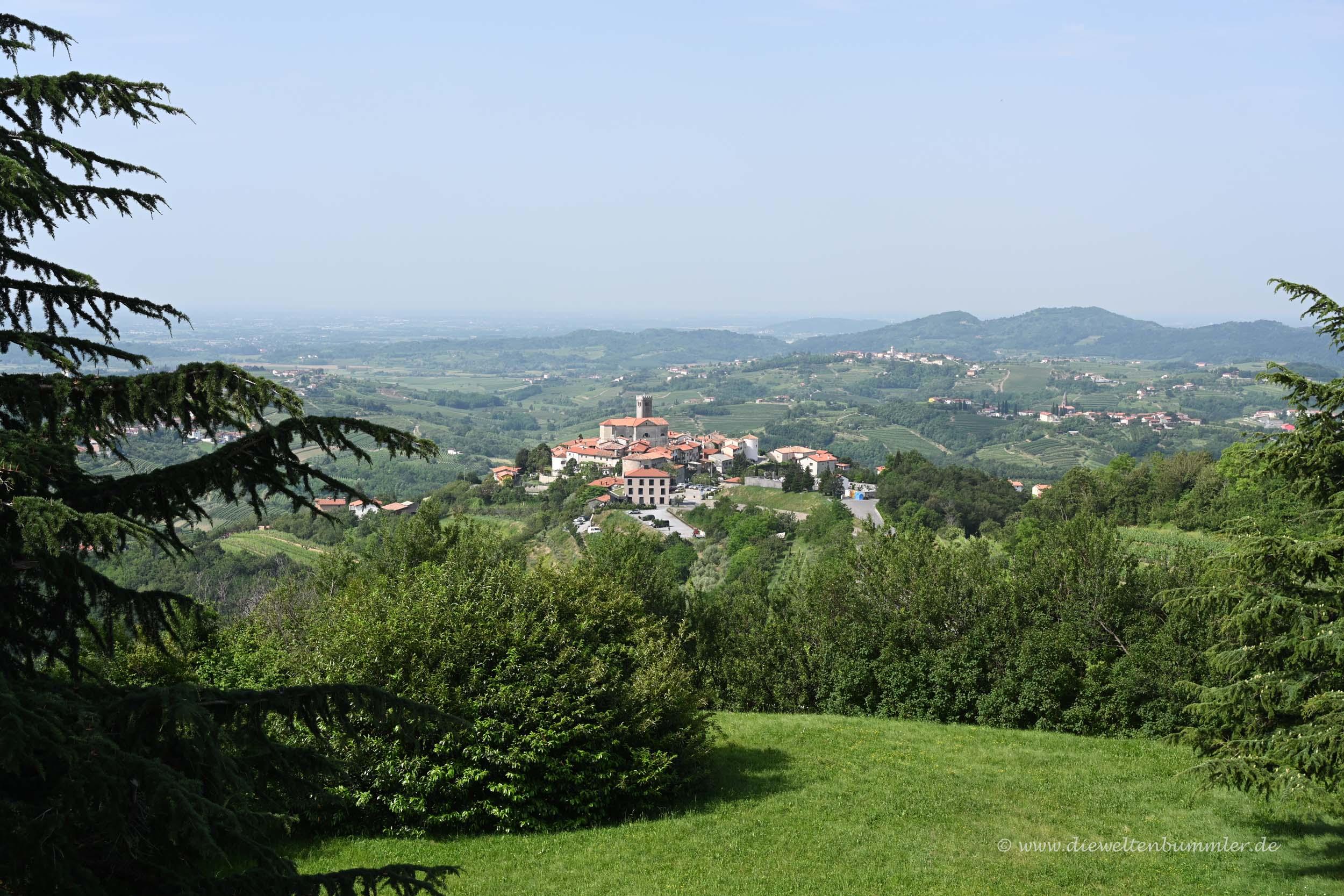Blick zum Dorf Smartno