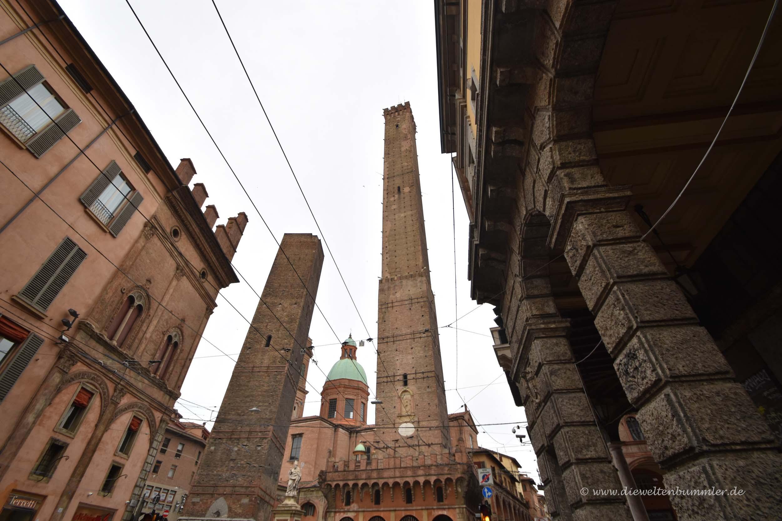 Die beiden Türme von Bologna