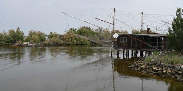 Fischerhäuser im Po-Delta