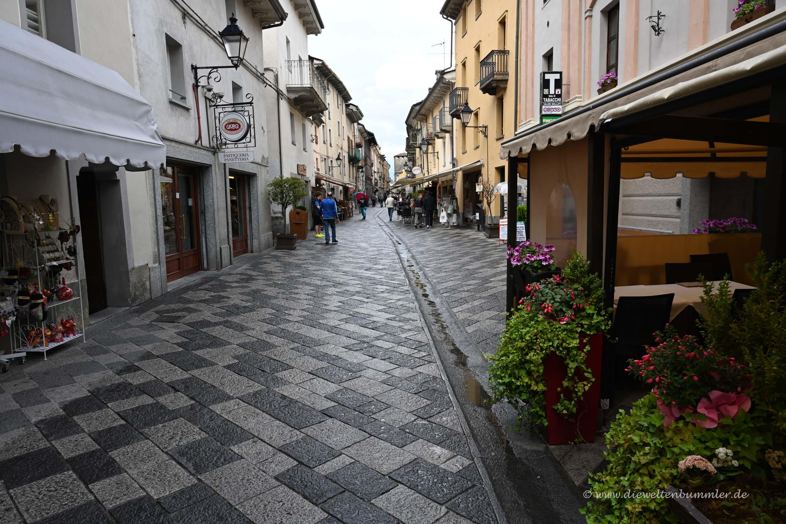 Fußgängerzone in Aosta