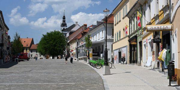 Fußgängerzone in Novo Mesto