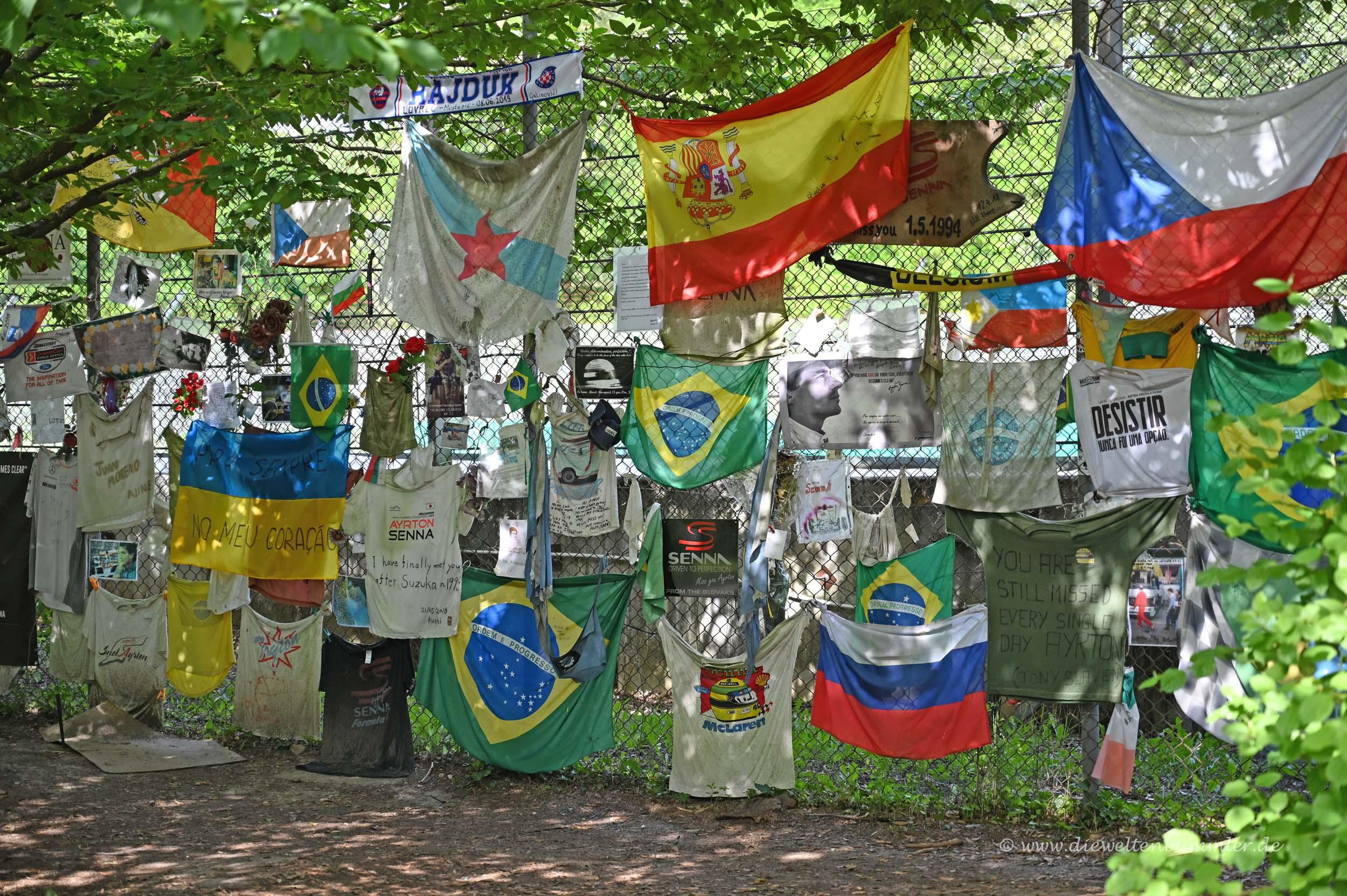 Gedenkstätte für Ayrton Senna