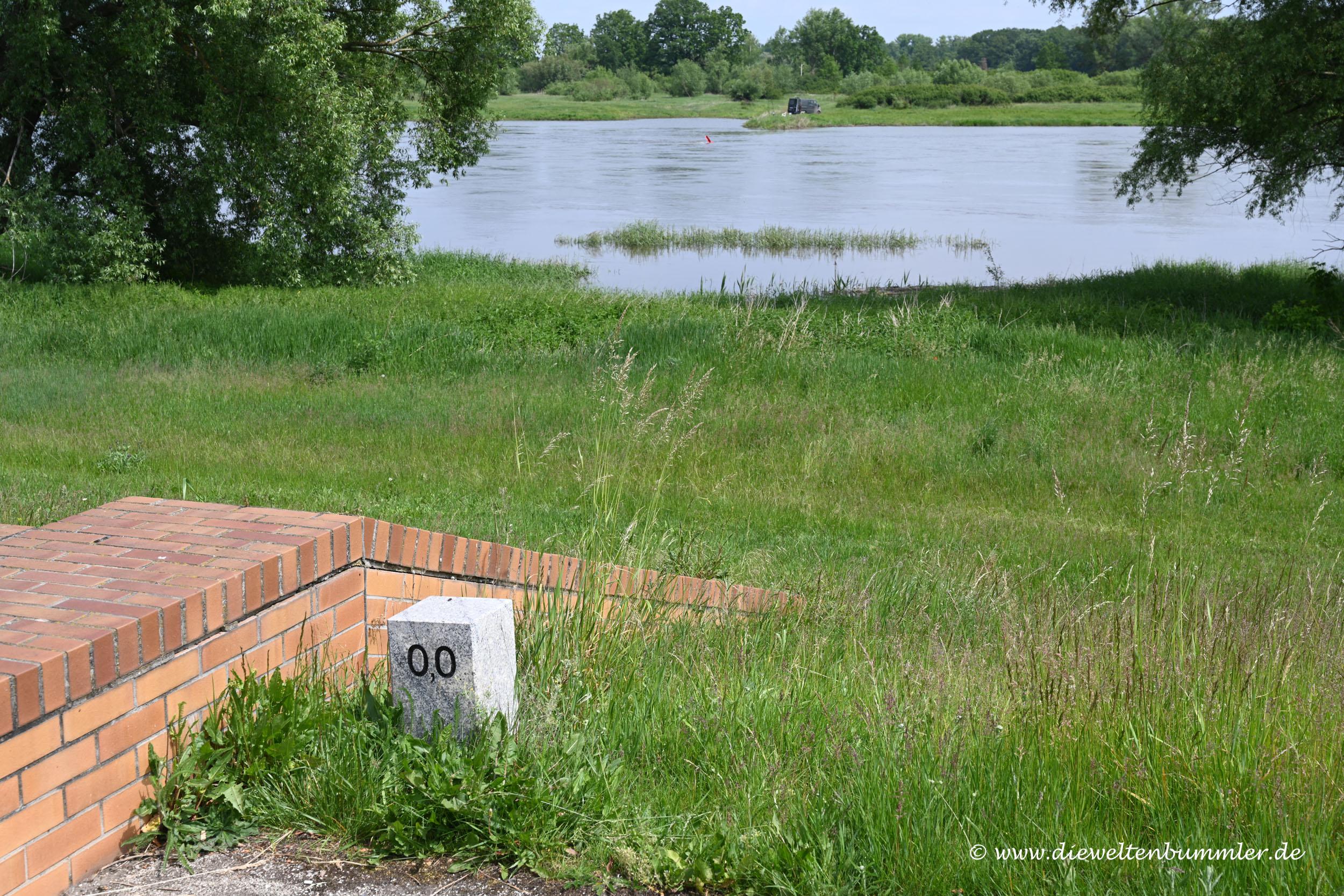 Kilometer Null an der Oder