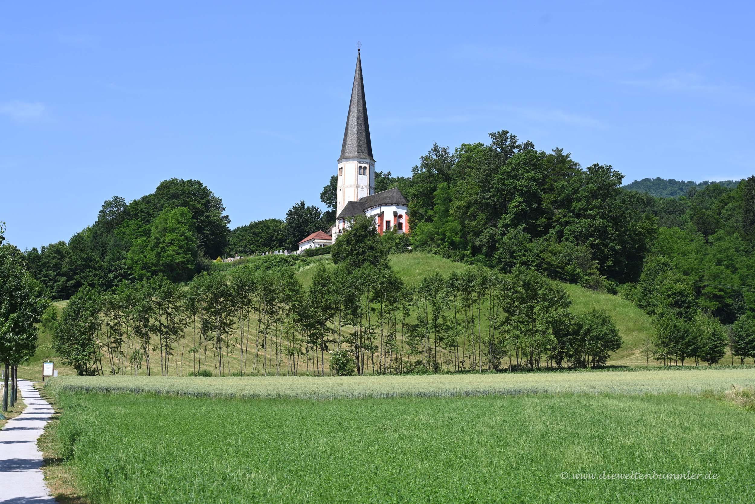 Kirche bei Olimje