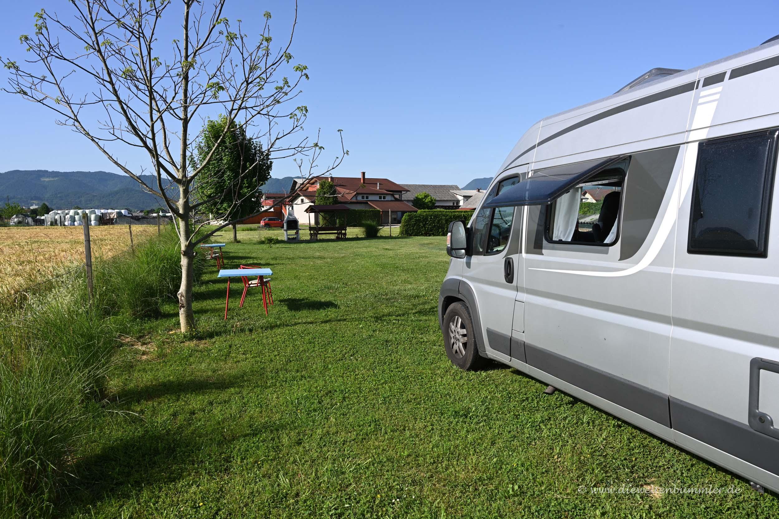 Kleiner Campingplatz in Celje