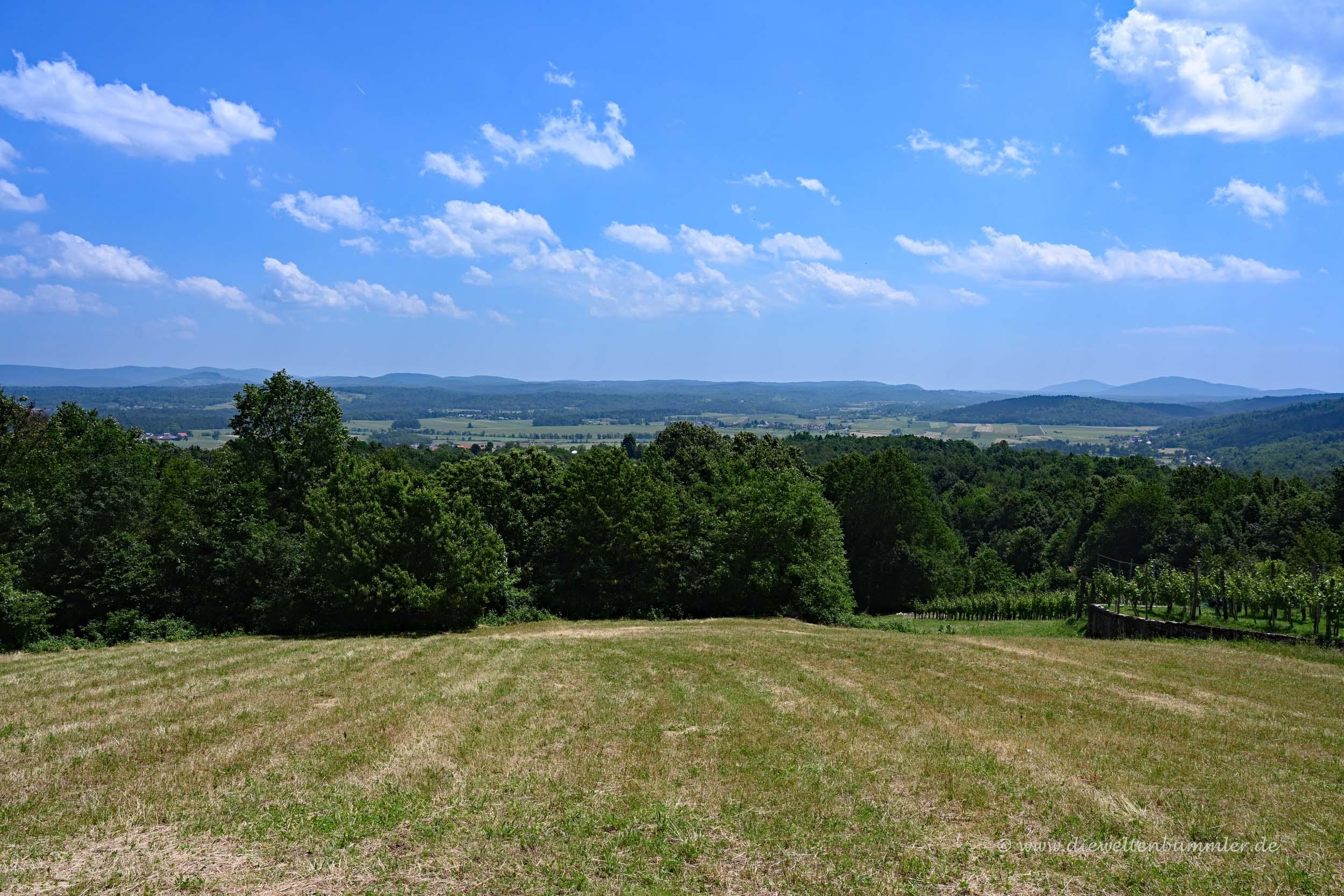 Landschaft im Südosten von Slowenien