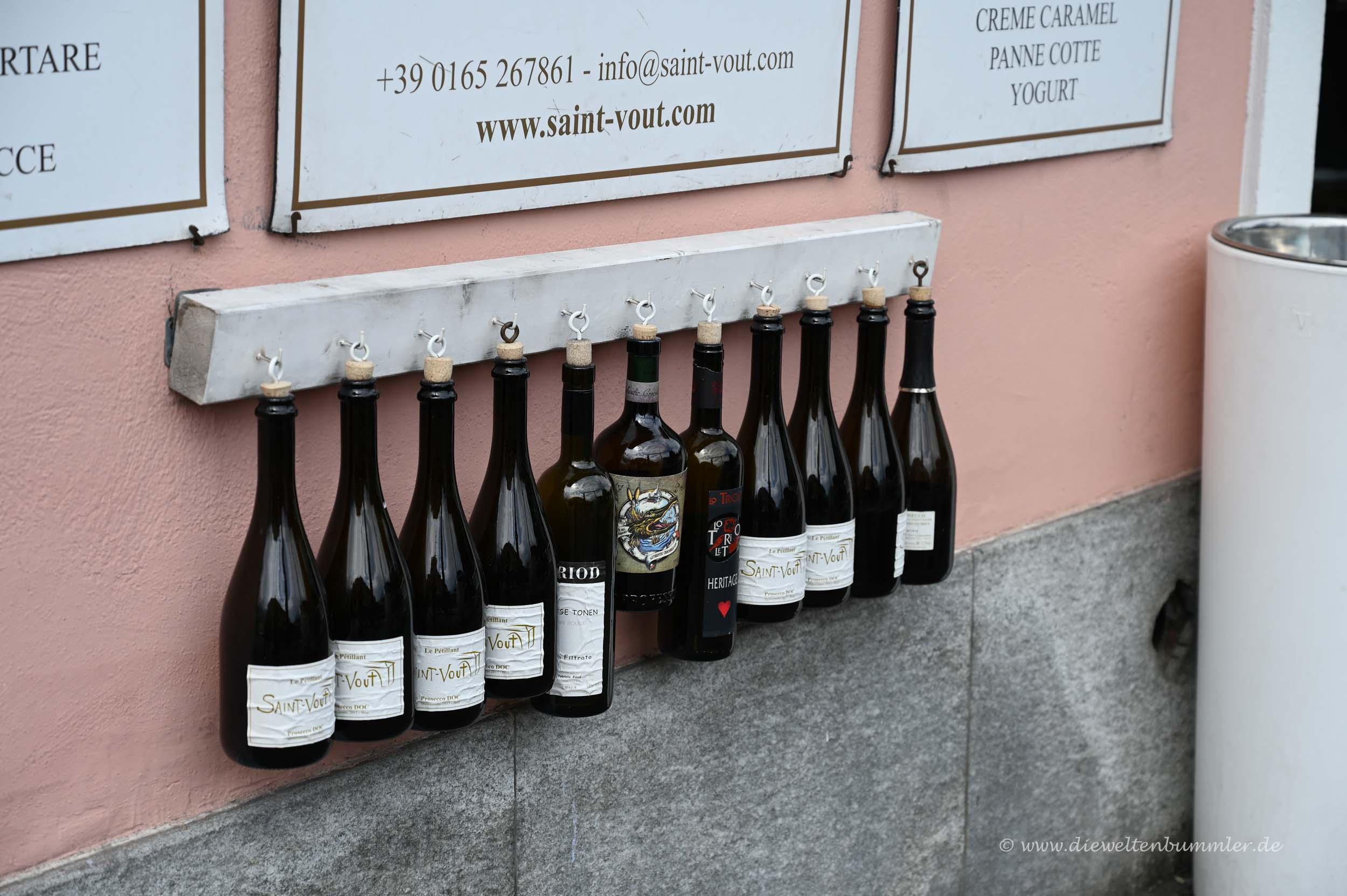 Nette Idee für Weinflaschen