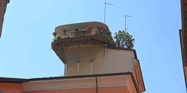 Ungewöhnlicher Balkon