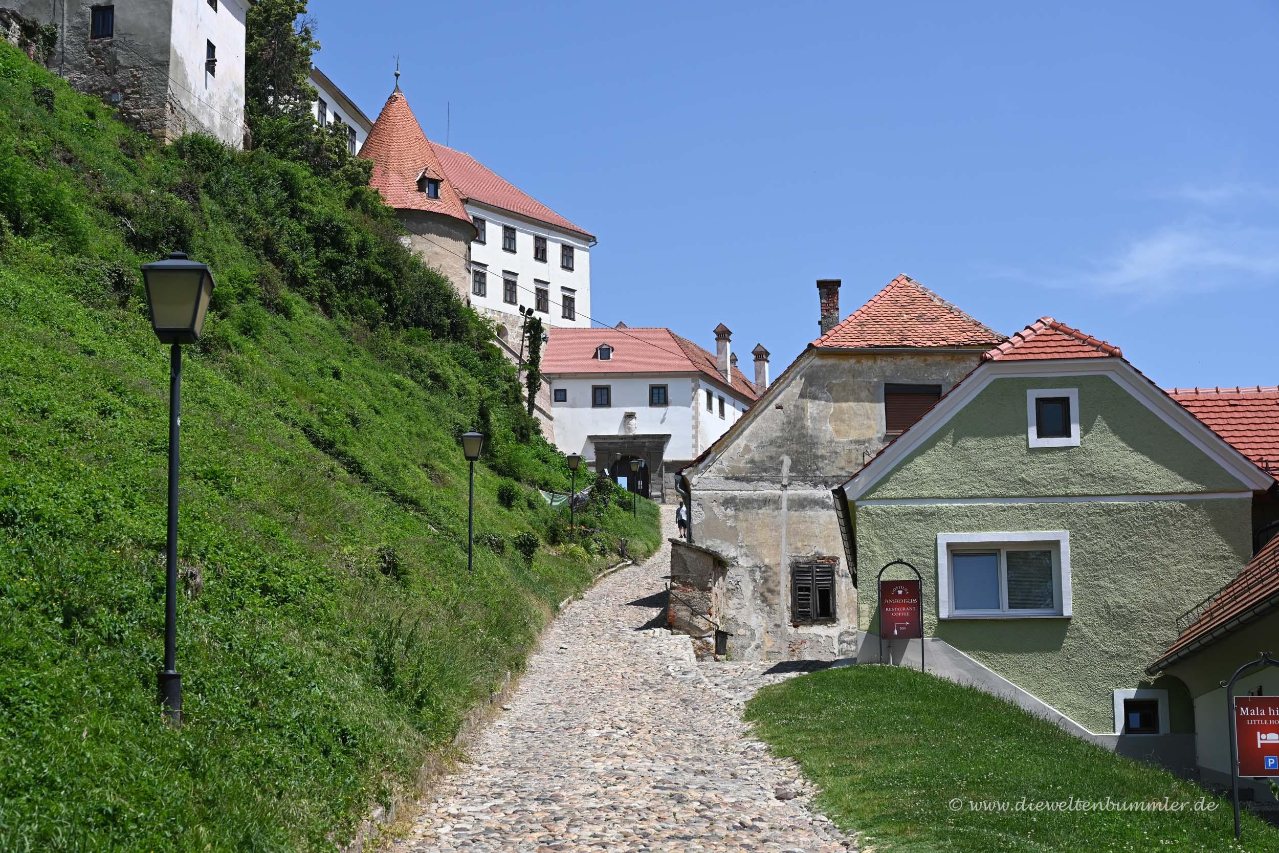 Weg zum Schloss Ptuj